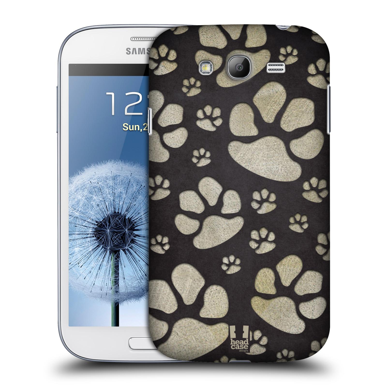 Plastové pouzdro na mobil Samsung Galaxy Grand Neo Plus HEAD CASE TLAPKY ŠEDÉ (Kryt či obal na mobilní telefon Samsung Galaxy Grand Neo Plus GT-i9060i)
