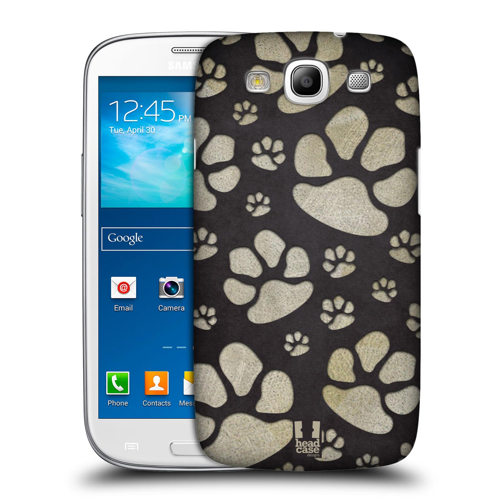 Plastové pouzdro na mobil Samsung Galaxy S3 Neo HEAD CASE TLAPKY ŠEDÉ