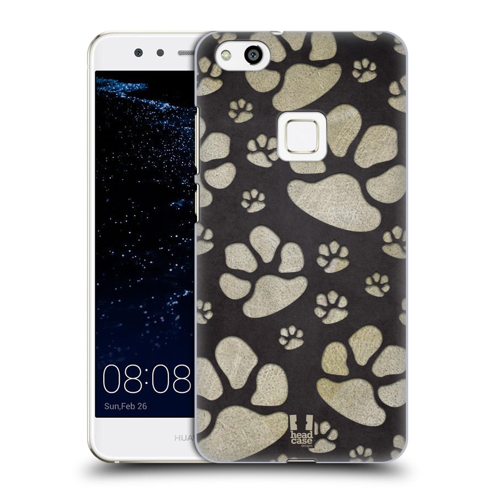 Plastové pouzdro na mobil Huawei P10 Lite Head Case - TLAPKY ŠEDÉ (Plastový kryt či obal na mobilní telefon Huawei P10 Lite Dual SIM (LX1/LX1A))