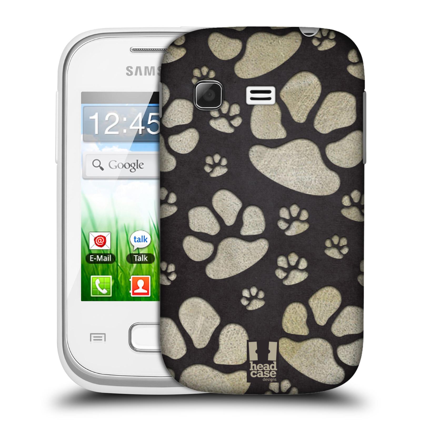 Plastové pouzdro na mobil Samsung Galaxy Pocket HEAD CASE TLAPKY ŠEDÉ (Kryt či obal na mobilní telefon Samsung Galaxy Pocket GT-S5300)