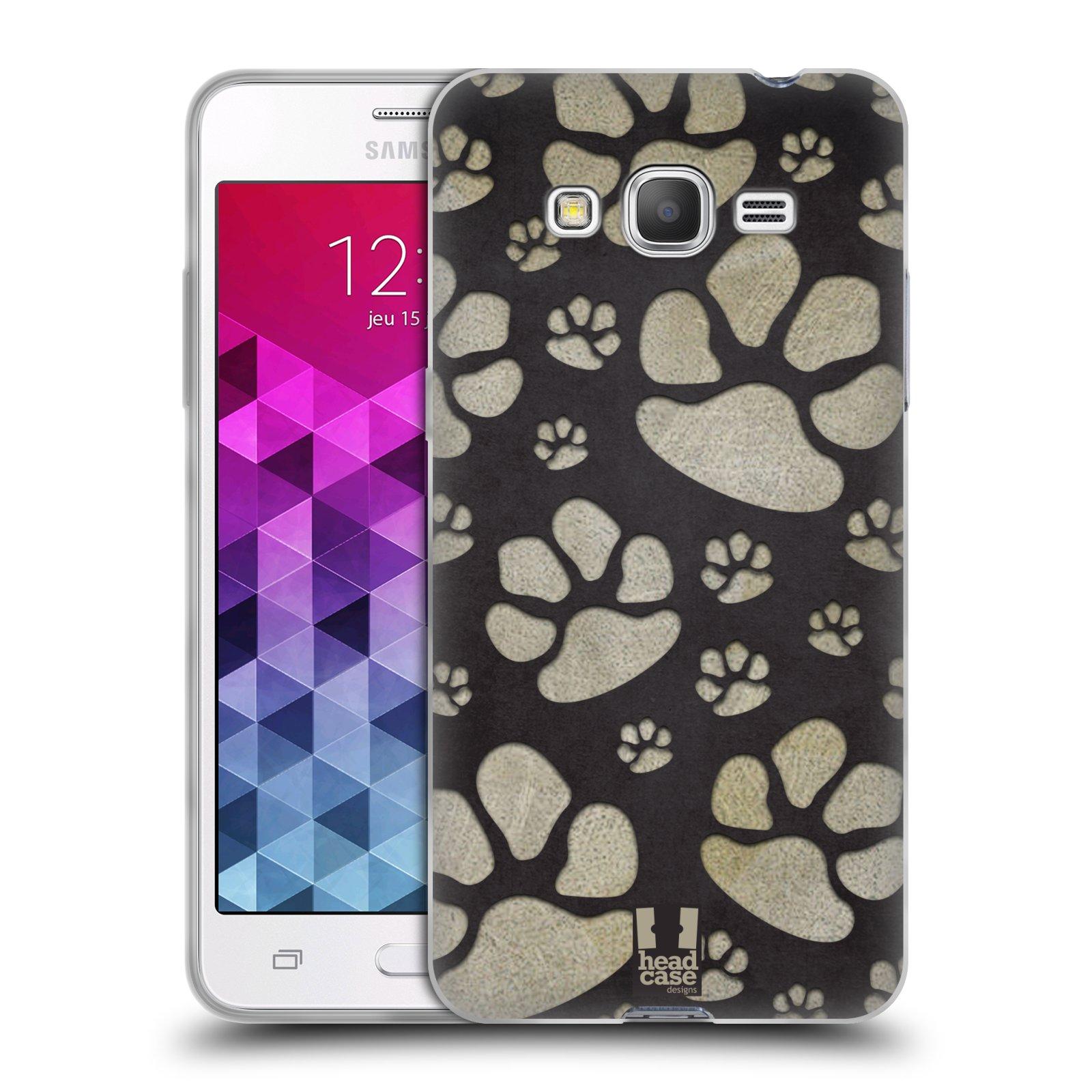 Silikonové pouzdro na mobil Samsung Galaxy Grand Prime VE HEAD CASE TLAPKY ŠEDÉ (Silikonový kryt či obal na mobilní telefon Samsung Galaxy Grand Prime VE SM-G531F)