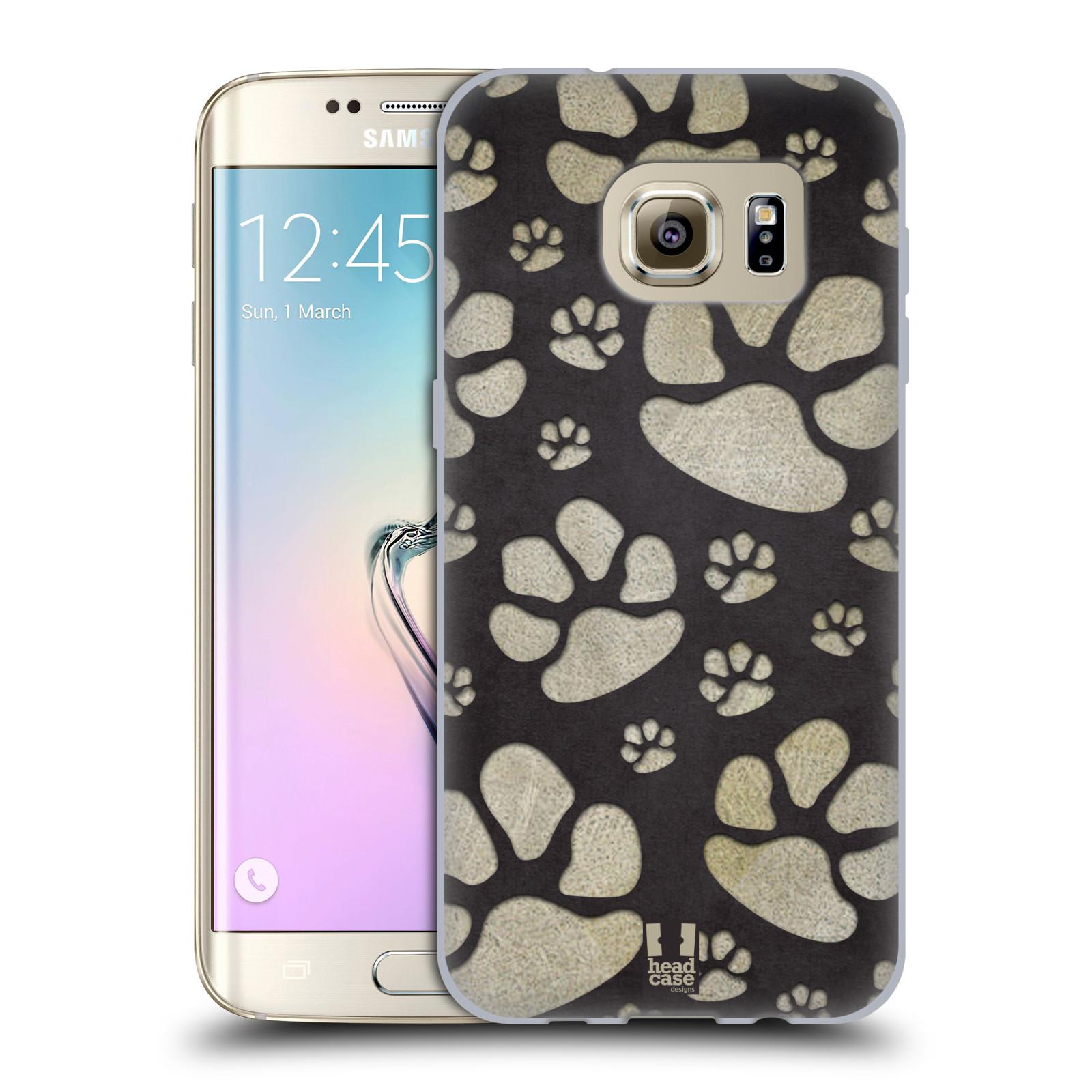 Silikonové pouzdro na mobil Samsung Galaxy S7 Edge HEAD CASE TLAPKY ŠEDÉ (Silikonový kryt či obal na mobilní telefon Samsung Galaxy S7 Edge SM-G935F)