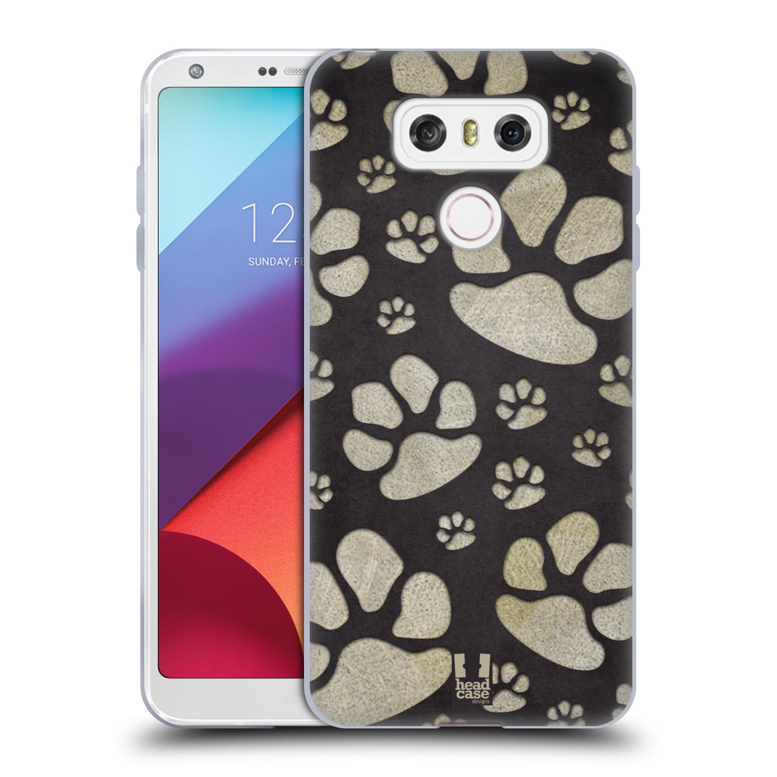 Silikonové pouzdro na mobil LG G6 - Head Case TLAPKY ŠEDÉ (Silikonový kryt či obal na mobilní telefon LG G6 H870 / LG G6 Dual SIM H870DS)