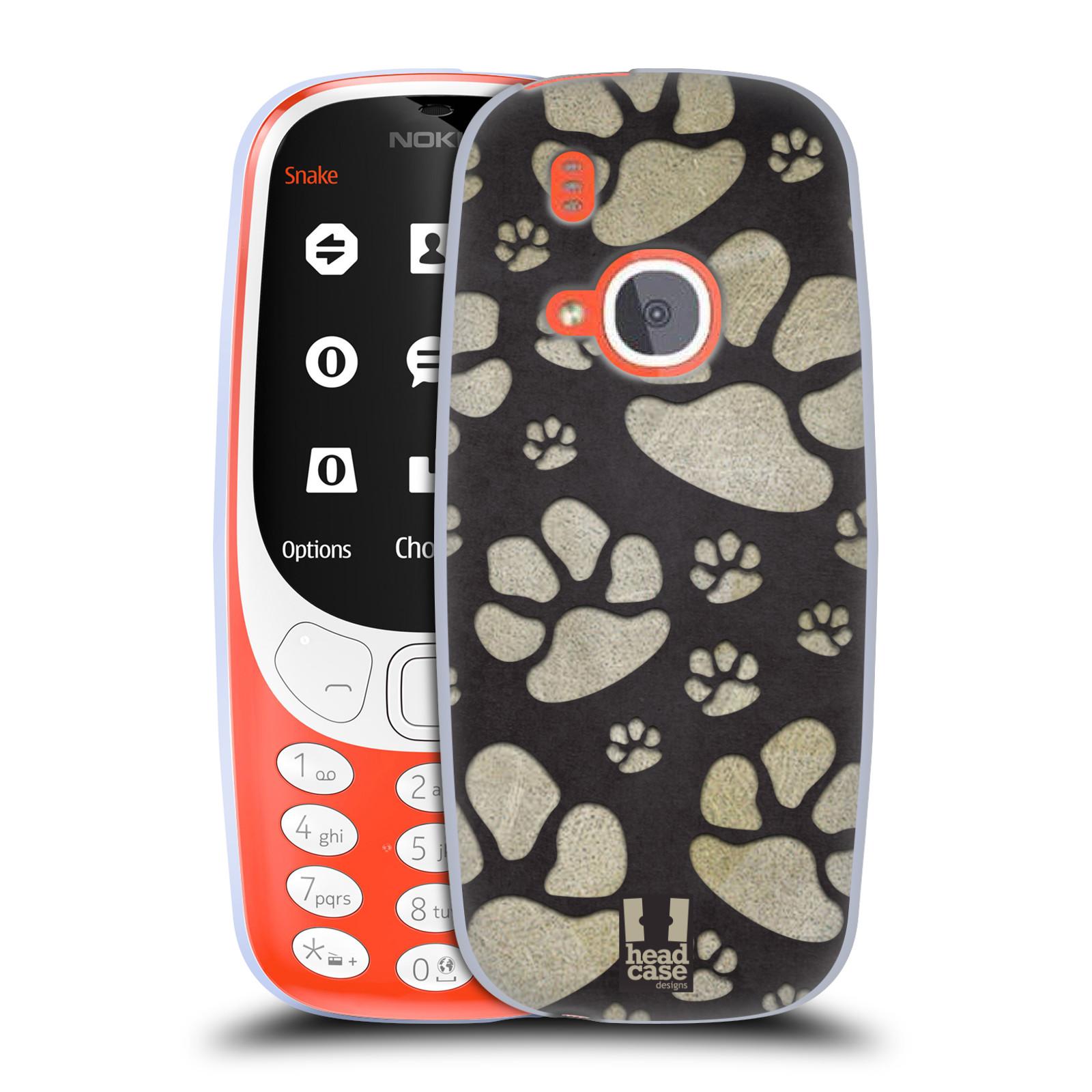 Silikonové pouzdro na mobil Nokia 3310 - Head Case - TLAPKY ŠEDÉ (Silikonový kryt či obal na mobilní telefon Nokia 3310 (2017) s motivem TLAPKY ŠEDÉ)
