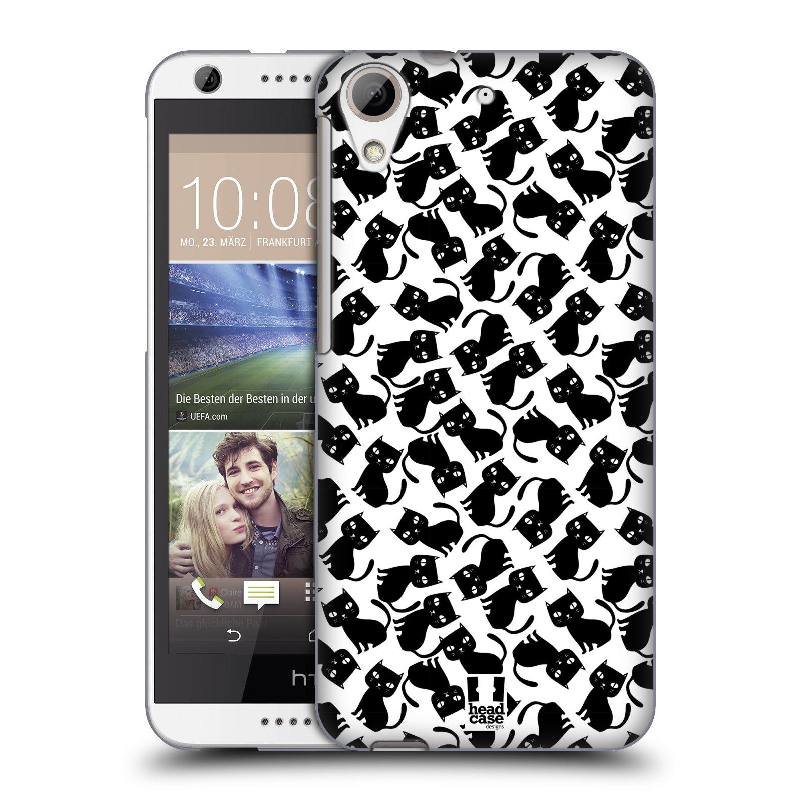 Plastové pouzdro na mobil HTC Desire 626 / 626G HEAD CASE KOČKY Black Pattern (Kryt či obal na mobilní telefon HTC Desire 626G Dual SIM a HTC Desire 626)
