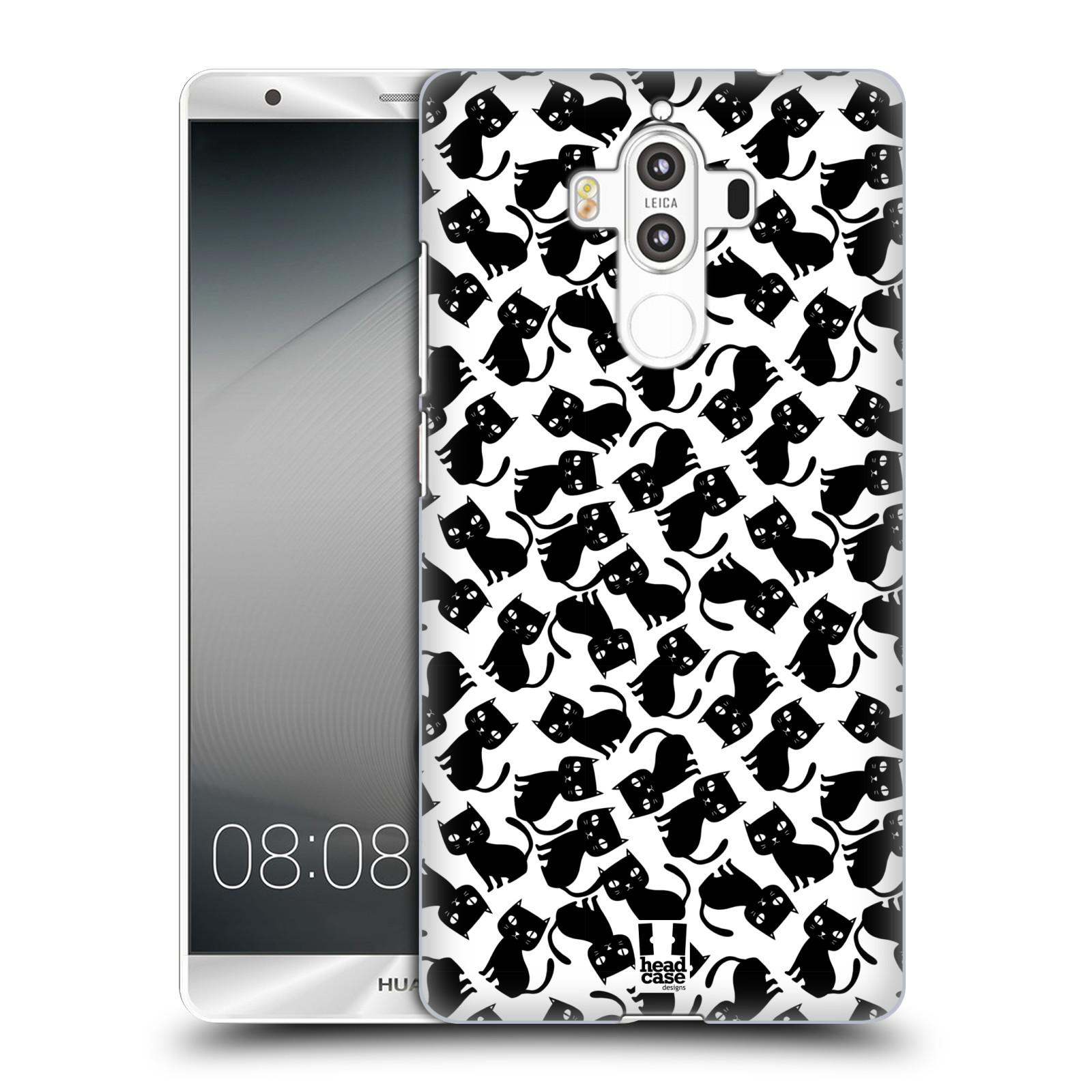 Plastové pouzdro na mobil Huawei Mate 9 - Head Case KOČKY Black Pattern (Plastový kryt či obal na mobilní telefon Huawei Mate 9 (Dual SIM))