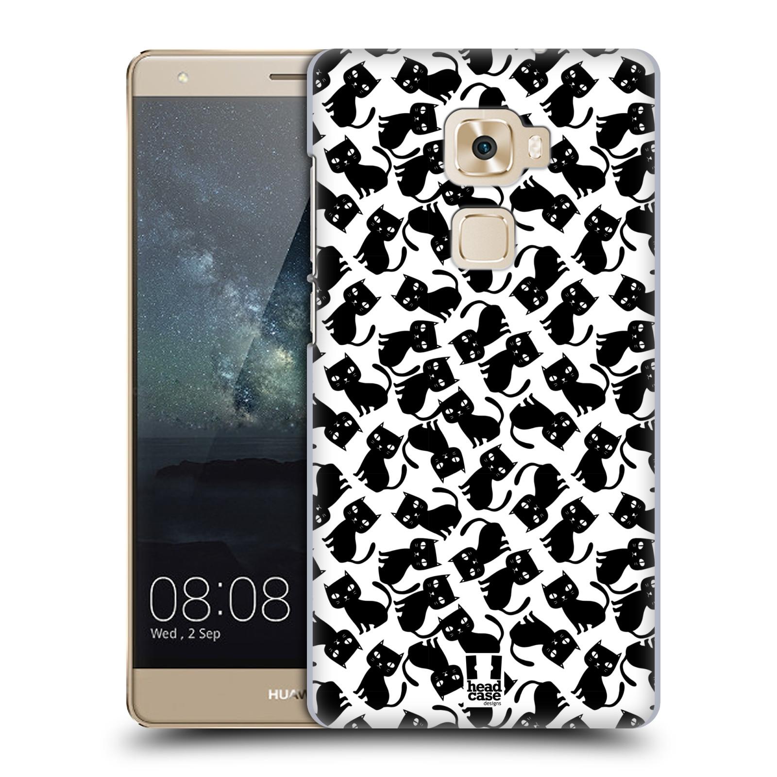 Plastové pouzdro na mobil Huawei Mate S HEAD CASE KOČKY Black Pattern (Plastový kryt či obal na mobilní telefon Huawei Mate S)