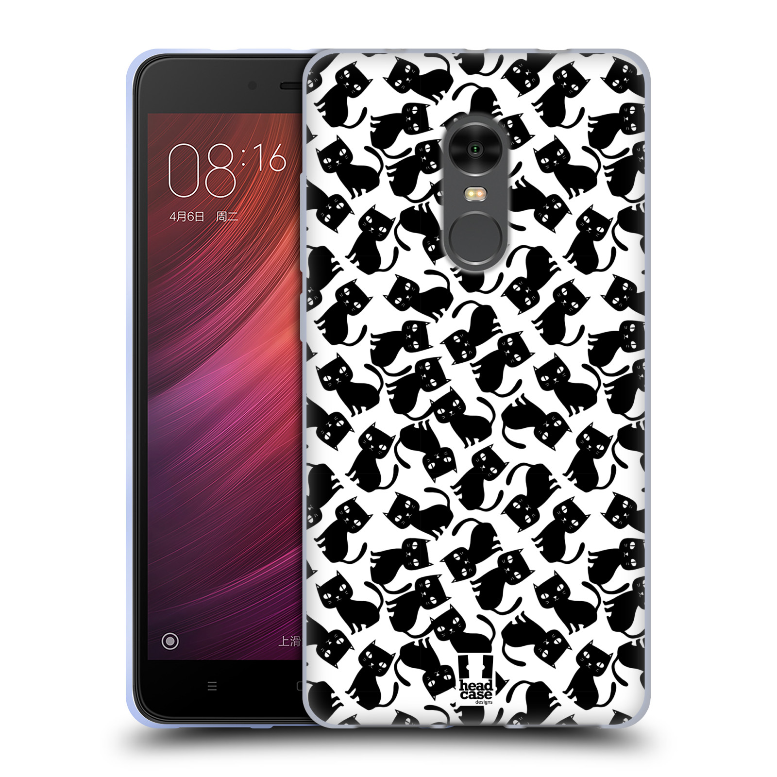 Silikonové pouzdro na mobil Xiaomi Redmi Note 4 - Head Case - KOČKY Black Pattern