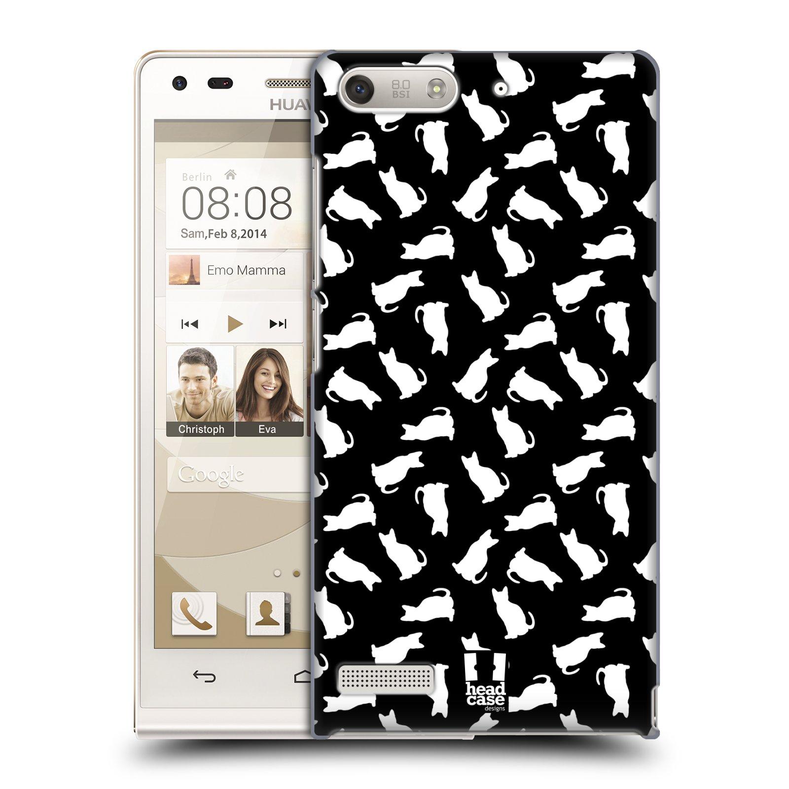 Plastové pouzdro na mobil Huawei Ascend G6 HEAD CASE KOČKY BÍLÉ (Kryt či obal na mobilní telefon Huawei Ascend G6 bez LTE)