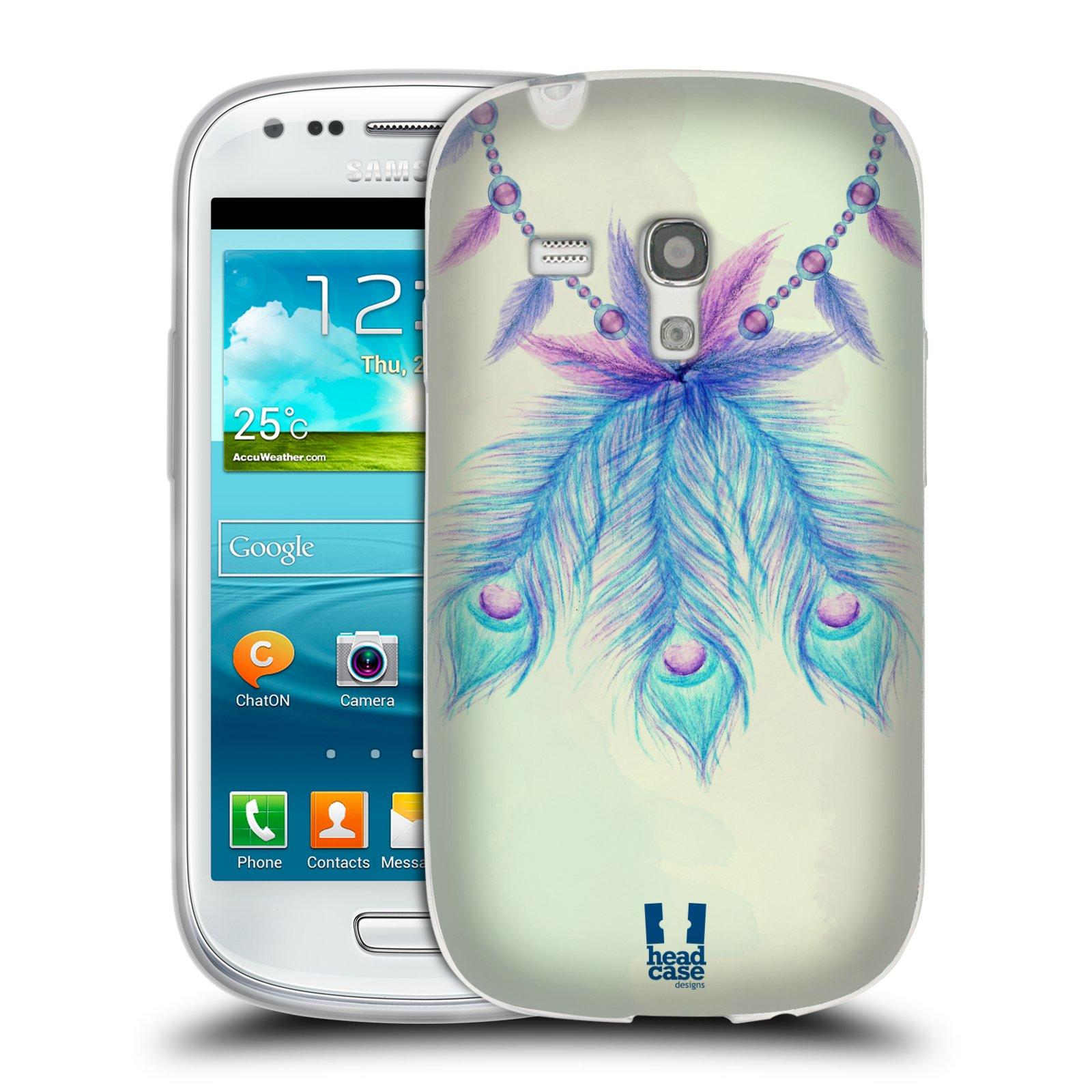 Silikonové pouzdro na mobil Samsung Galaxy S III Mini HEAD CASE PÍRKA LUCKY (Silikonový kryt či obal na mobilní telefon Samsung Galaxy S III Mini GT-i8190)