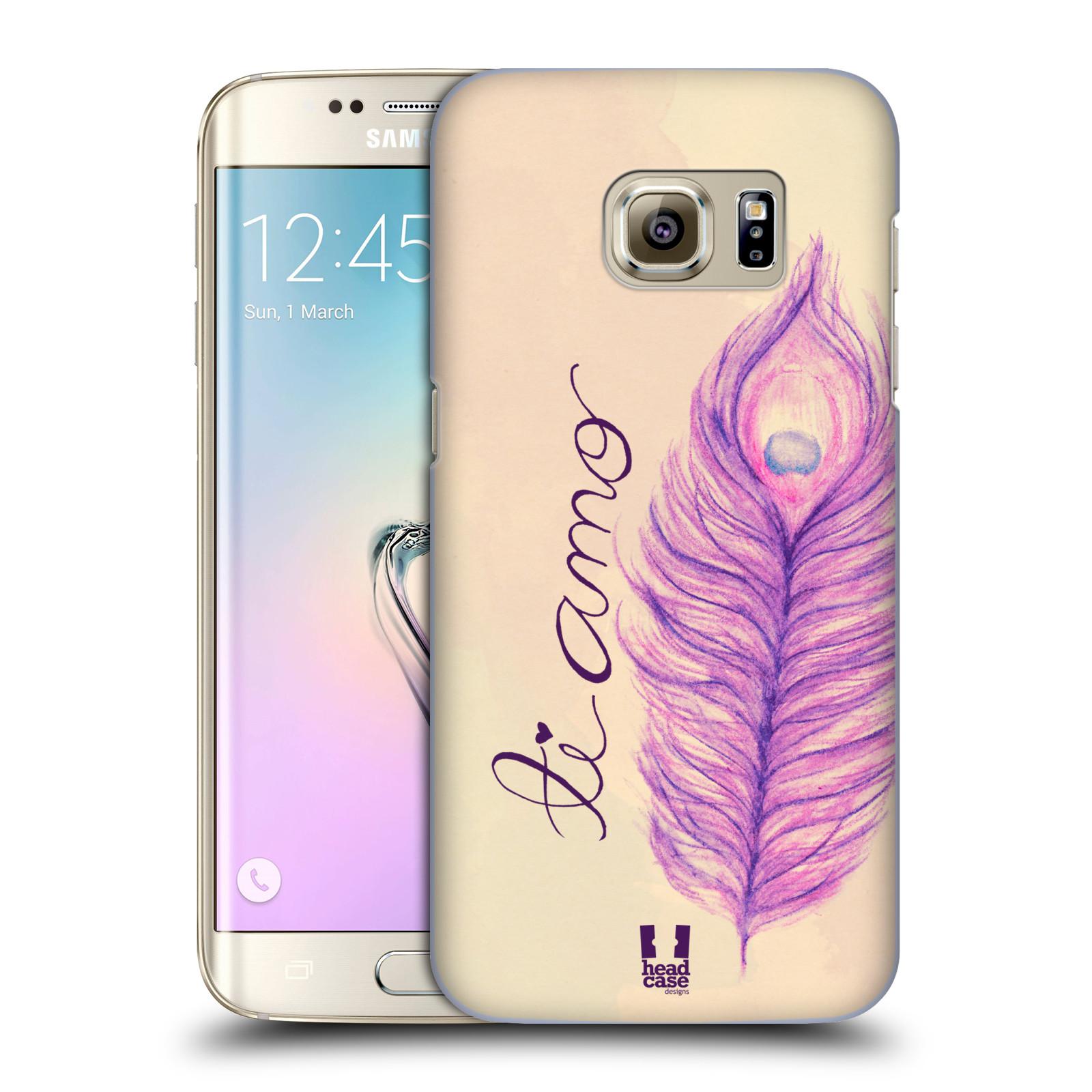 Plastové pouzdro na mobil Samsung Galaxy S7 Edge HEAD CASE PÍRKA TI AMO (Kryt či obal na mobilní telefon Samsung Galaxy S7 Edge SM-G935F)