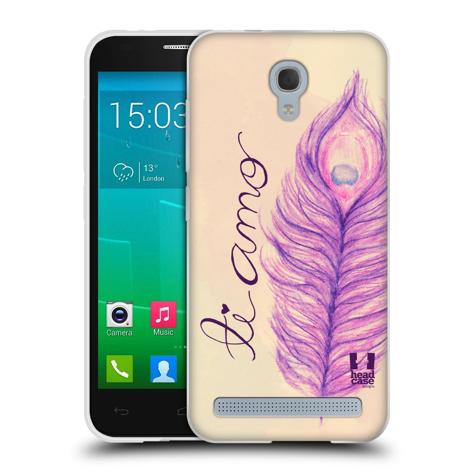 Silikonové pouzdro na mobil Alcatel One Touch Idol 2 Mini S 6036Y HEAD CASE PÍRKA TI AMO