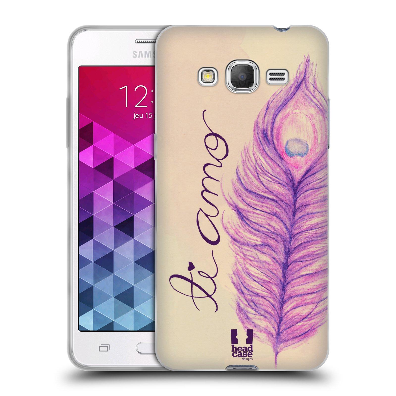 Silikonové pouzdro na mobil Samsung Galaxy Grand Prime VE HEAD CASE PÍRKA TI AMO