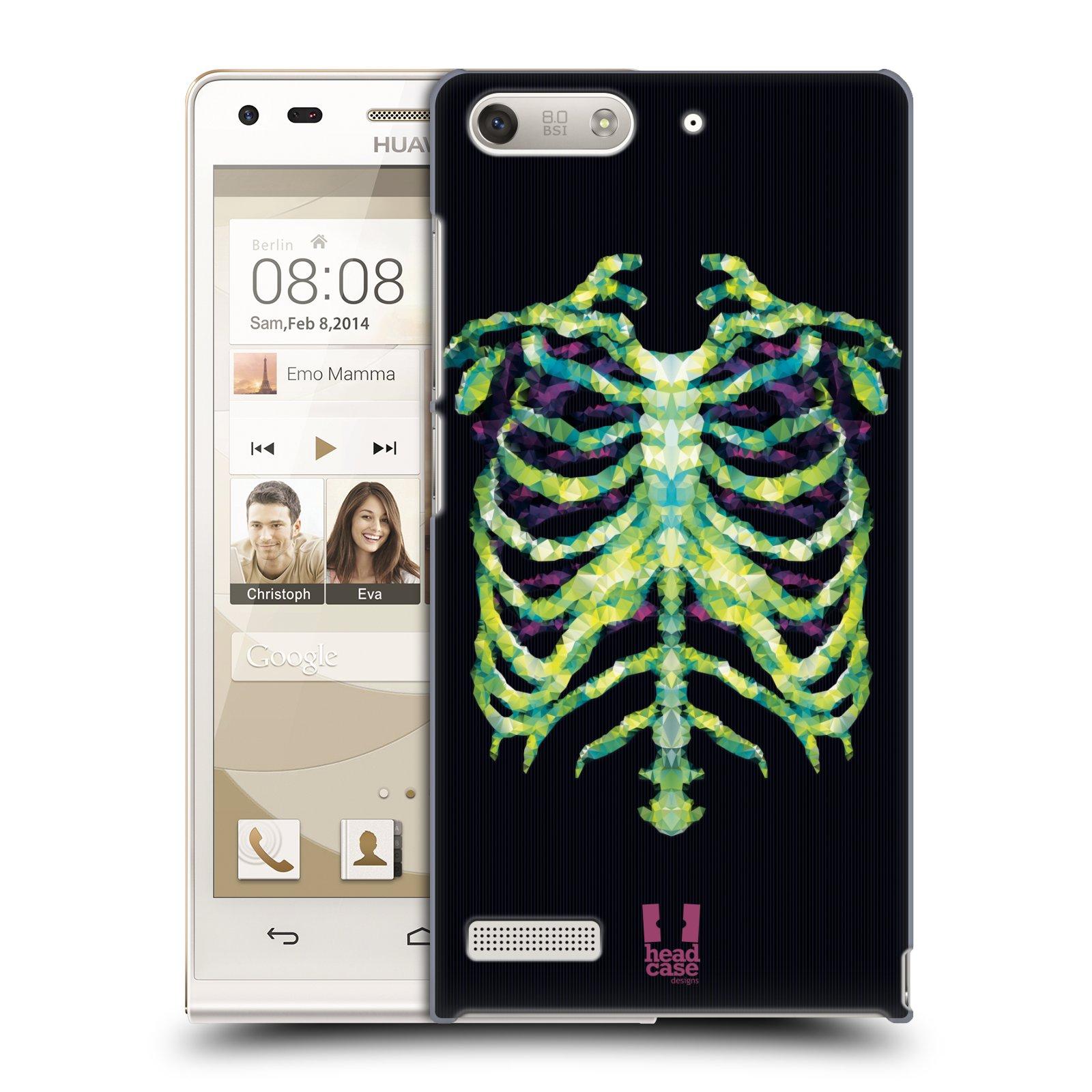 Plastové pouzdro na mobil Huawei Ascend G6 HEAD CASE NEON KOSTRA (Kryt či obal na mobilní telefon Huawei Ascend G6 bez LTE)