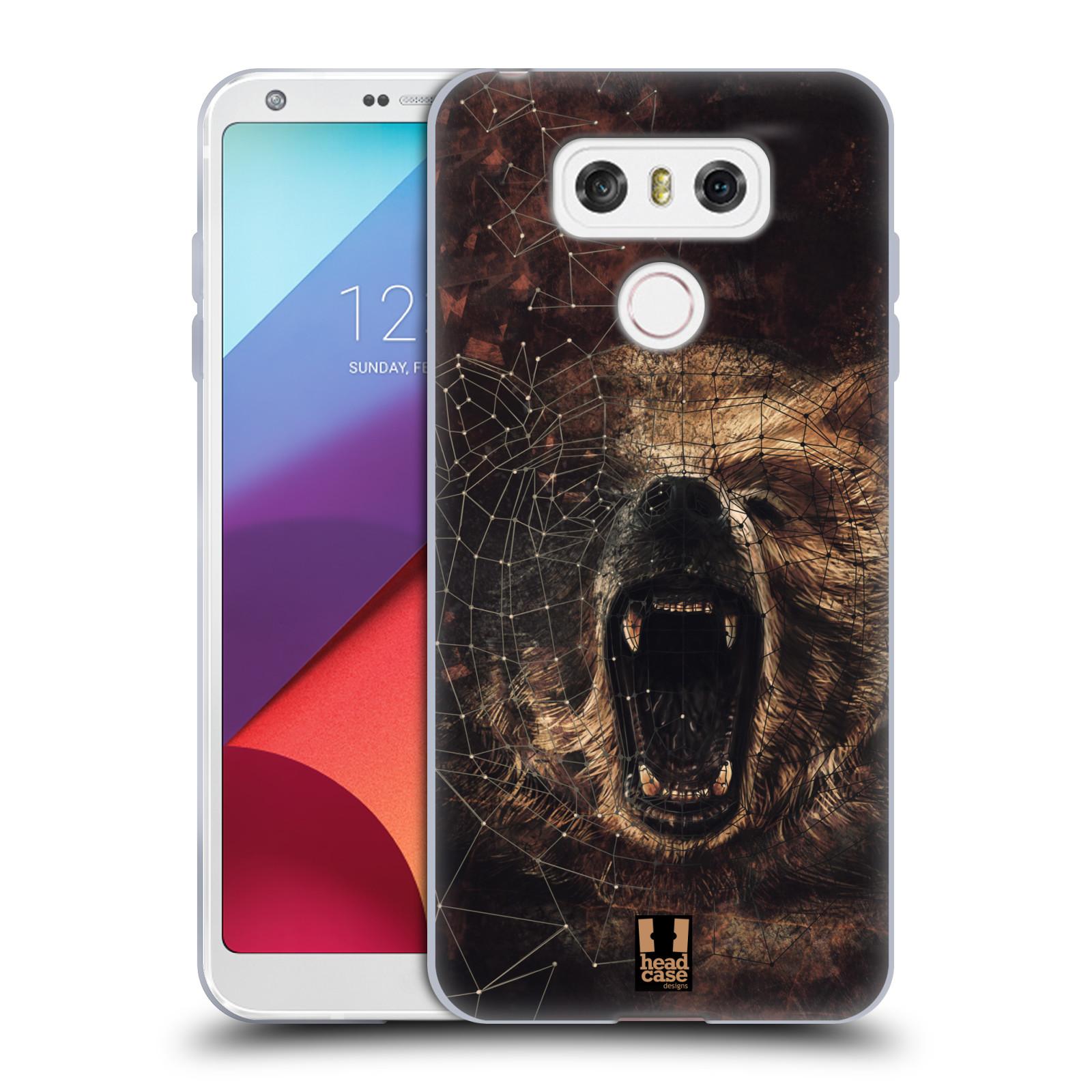 Silikonové pouzdro na mobil LG G6 - Head Case POLYSKETCH GRIZZLY (Silikonový kryt či obal na mobilní telefon LG G6 H870 / LG G6 Dual SIM H870DS)