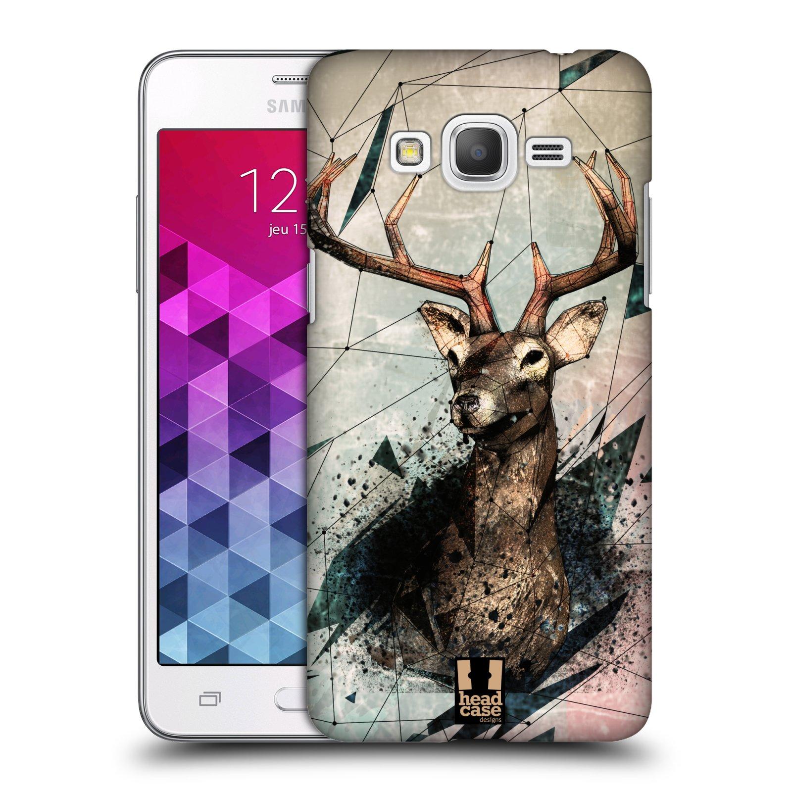 Plastové pouzdro na mobil Samsung Galaxy Grand Prime VE HEAD CASE POLYSKETCH JELEN