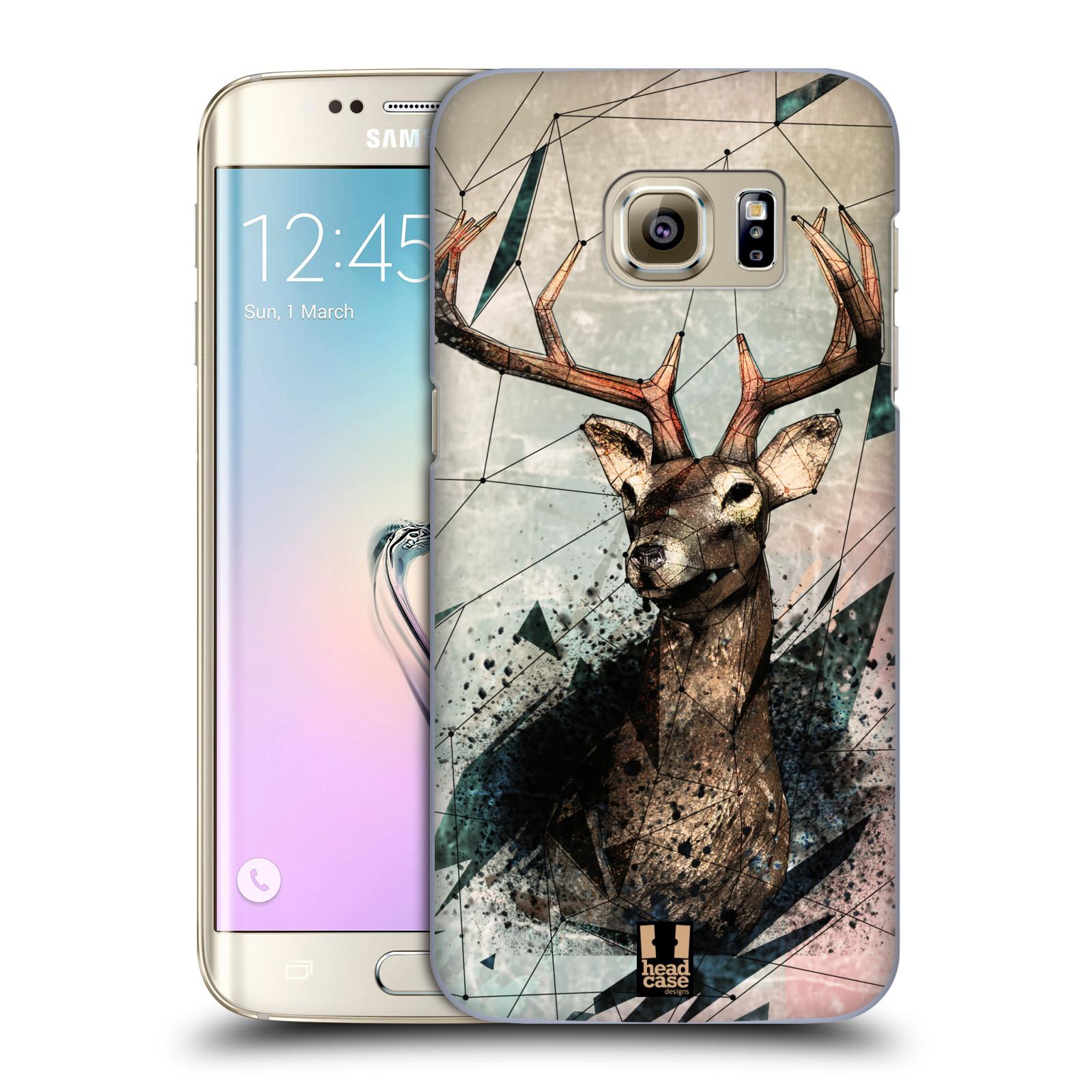 Plastové pouzdro na mobil Samsung Galaxy S7 Edge HEAD CASE POLYSKETCH JELEN (Kryt či obal na mobilní telefon Samsung Galaxy S7 Edge SM-G935F)