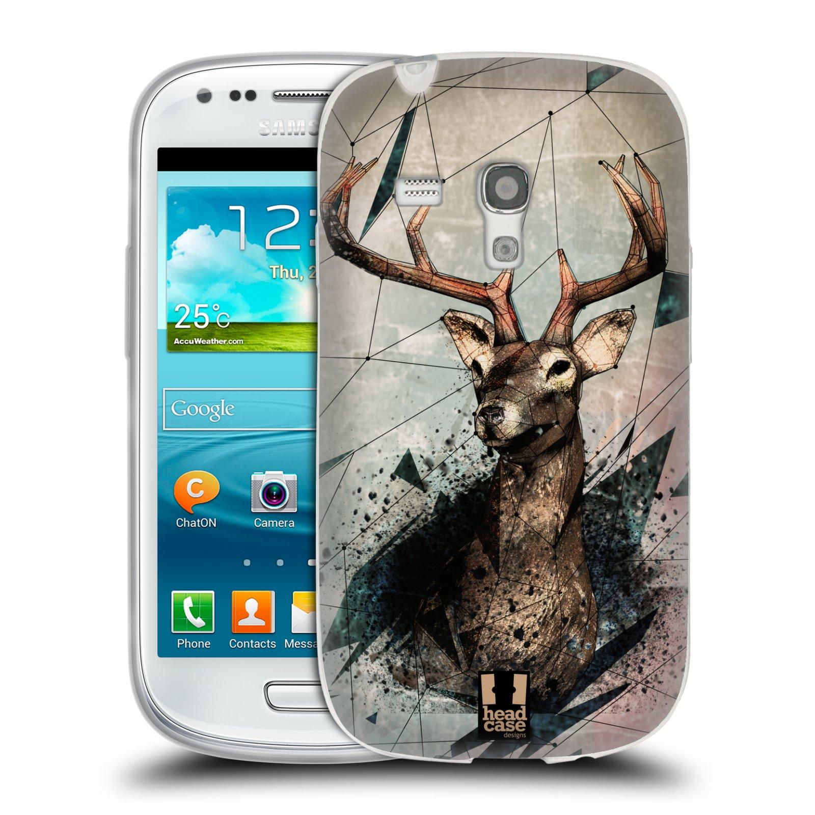 Silikonové pouzdro na mobil Samsung Galaxy S III Mini HEAD CASE POLYSKETCH JELEN (Silikonový kryt či obal na mobilní telefon Samsung Galaxy S III Mini GT-i8190)