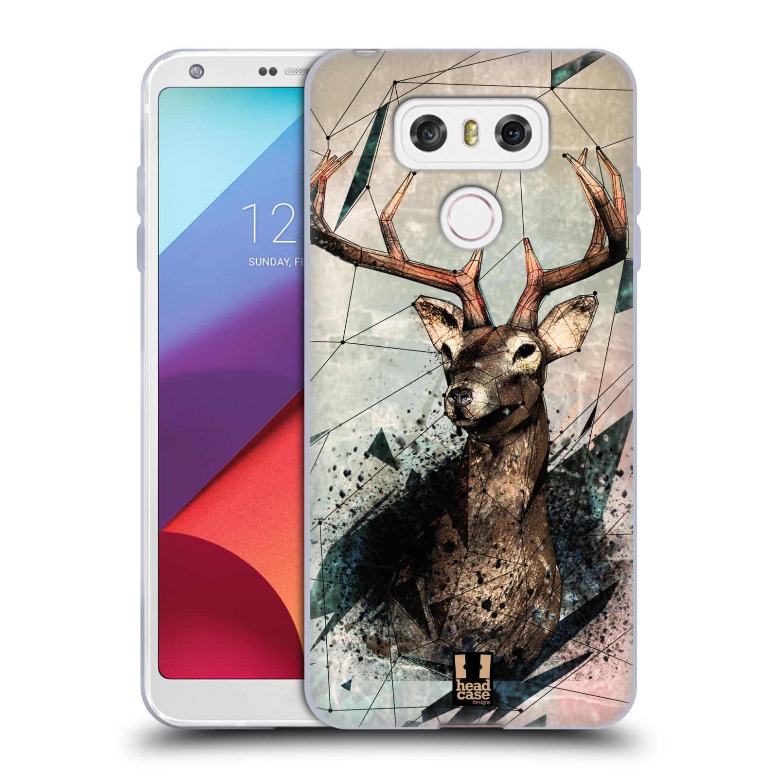 Silikonové pouzdro na mobil LG G6 - Head Case POLYSKETCH JELEN (Silikonový kryt či obal na mobilní telefon LG G6 H870 / LG G6 Dual SIM H870DS)
