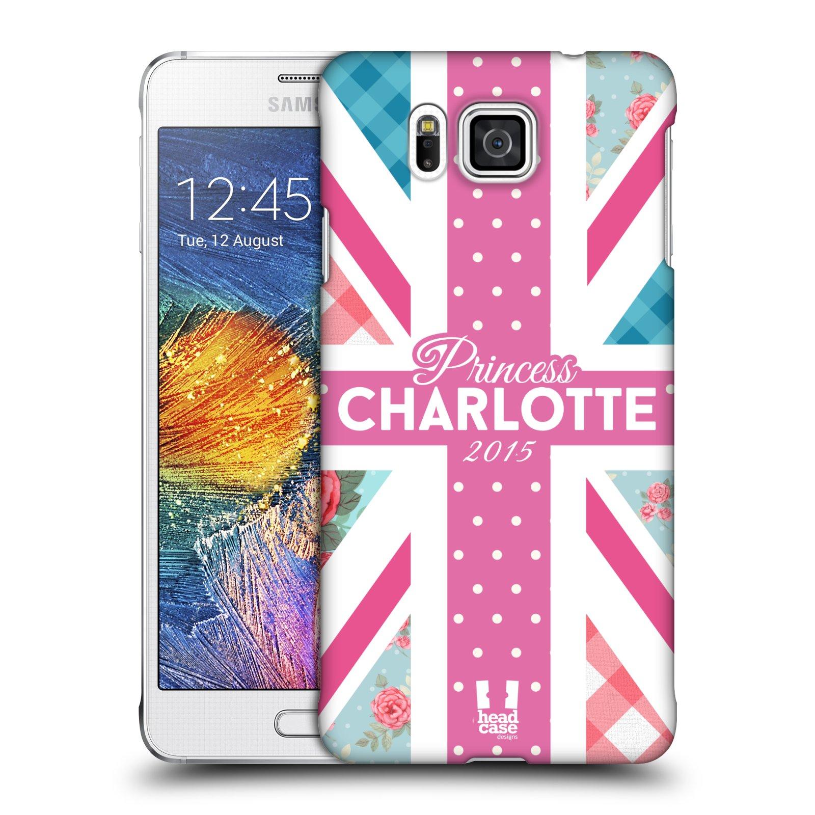 Plastové pouzdro na mobil Samsung Galaxy Alpha HEAD CASE PRINCEZNIČKA CHARLOTTE (Kryt či obal na mobilní telefon Samsung Galaxy Alpha SM-G850)