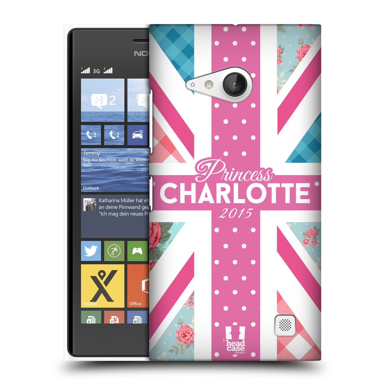 Plastové pouzdro na mobil Nokia Lumia 730 Dual SIM HEAD CASE PRINCEZNIČKA CHARLOTTE (Kryt či obal na mobilní telefon Nokia Lumia 730 Dual SIM)