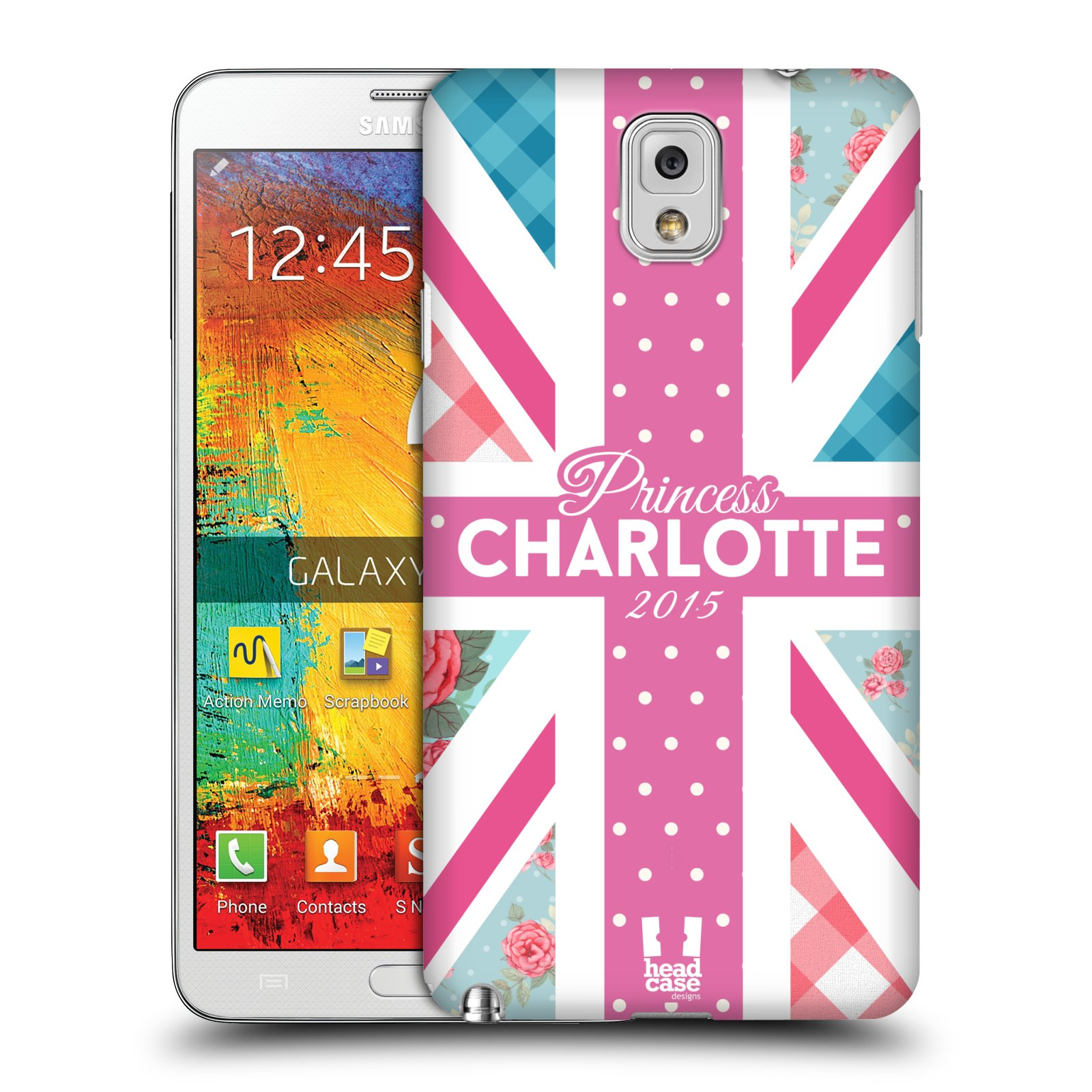 Plastové pouzdro na mobil Samsung Galaxy Note 3 HEAD CASE PRINCEZNIČKA CHARLOTTE (Kryt či obal na mobilní telefon Samsung Galaxy Note 3 SM-N9005)