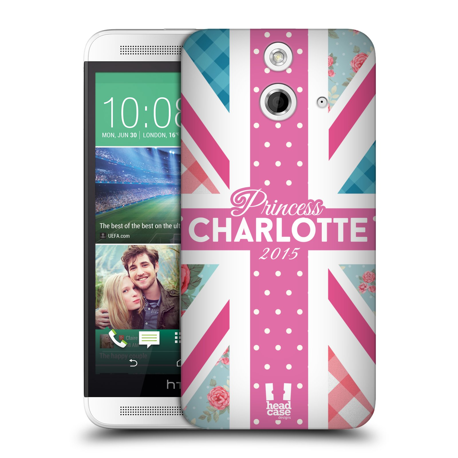 Plastové pouzdro na mobil HTC ONE E8 HEAD CASE PRINCEZNIČKA CHARLOTTE (Kryt či obal na mobilní telefon HTC ONE E8)