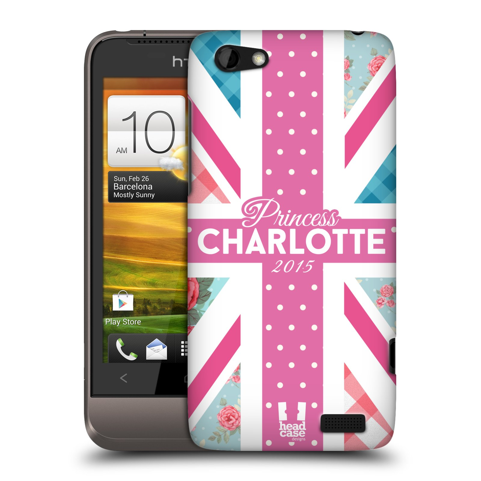 Plastové pouzdro na mobil HTC ONE V HEAD CASE PRINCEZNIČKA CHARLOTTE (Kryt či obal na mobilní telefon HTC ONE V)