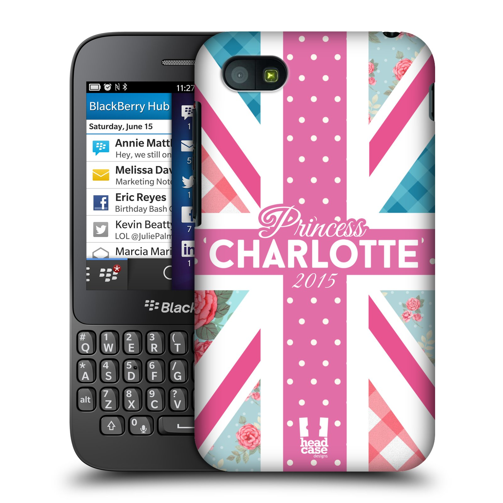 Plastové pouzdro na mobil Blackberry Q5 HEAD CASE PRINCEZNIČKA CHARLOTTE (Kryt či obal na mobilní telefon Blackberry Q5)