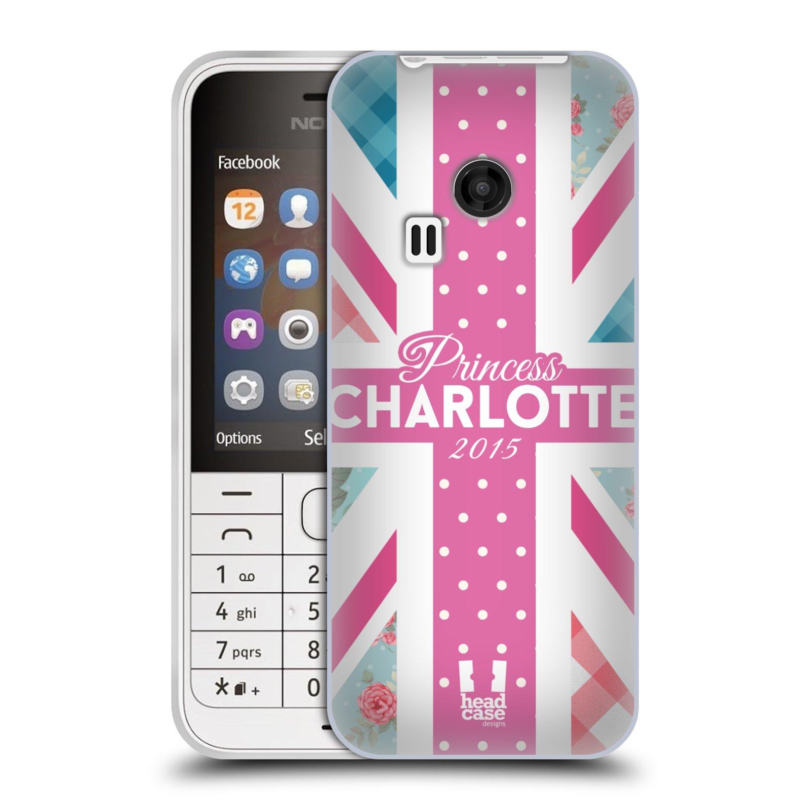 Silikonové pouzdro na mobil Nokia 220 HEAD CASE PRINCEZNIČKA CHARLOTTE (Silikonový kryt či obal na mobilní telefon Nokia 220 a 220 Dual SIM)