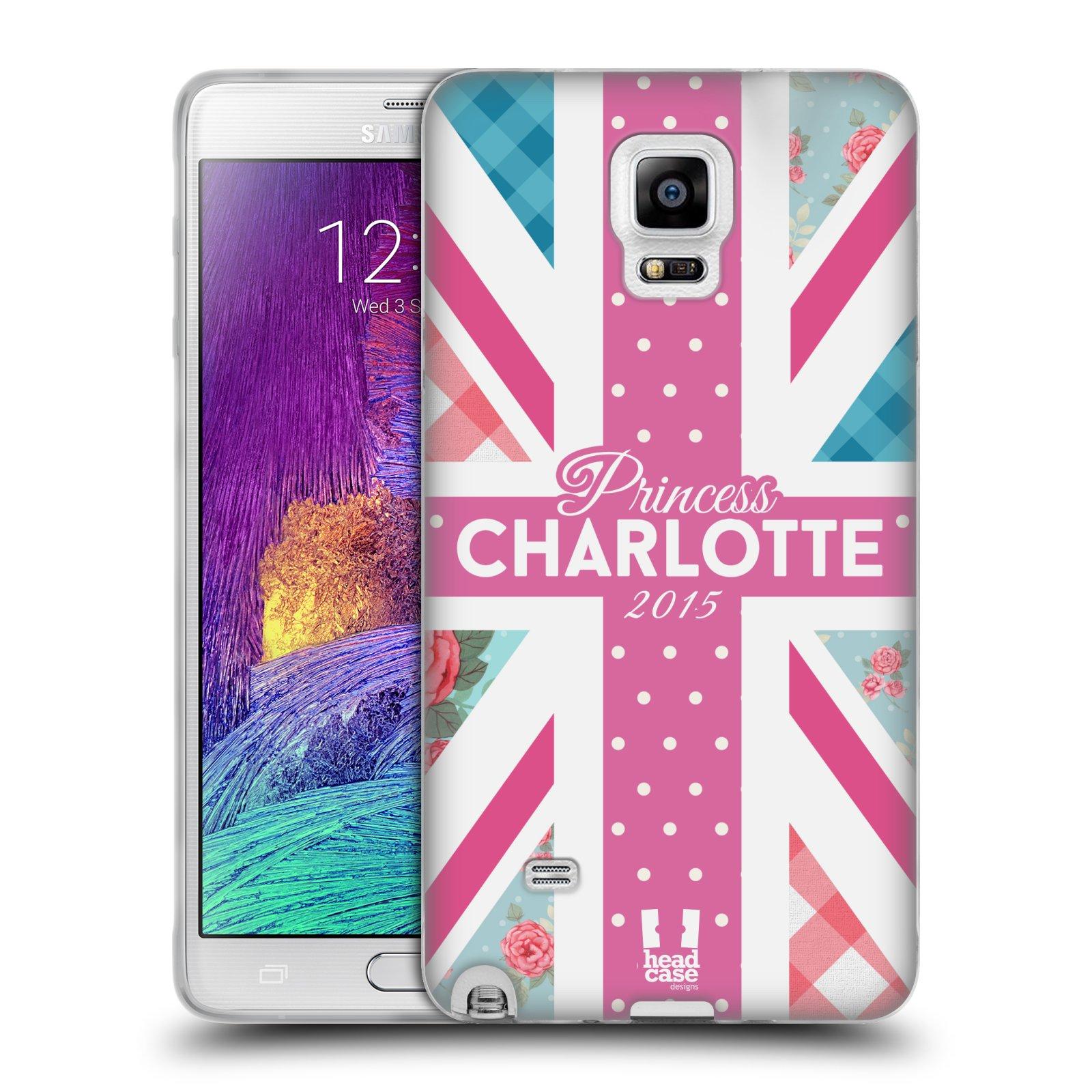 Silikonové pouzdro na mobil Samsung Galaxy Note 4 HEAD CASE PRINCEZNIČKA CHARLOTTE (Silikonový kryt či obal na mobilní telefon Samsung Galaxy Note 4 SM-N910F)