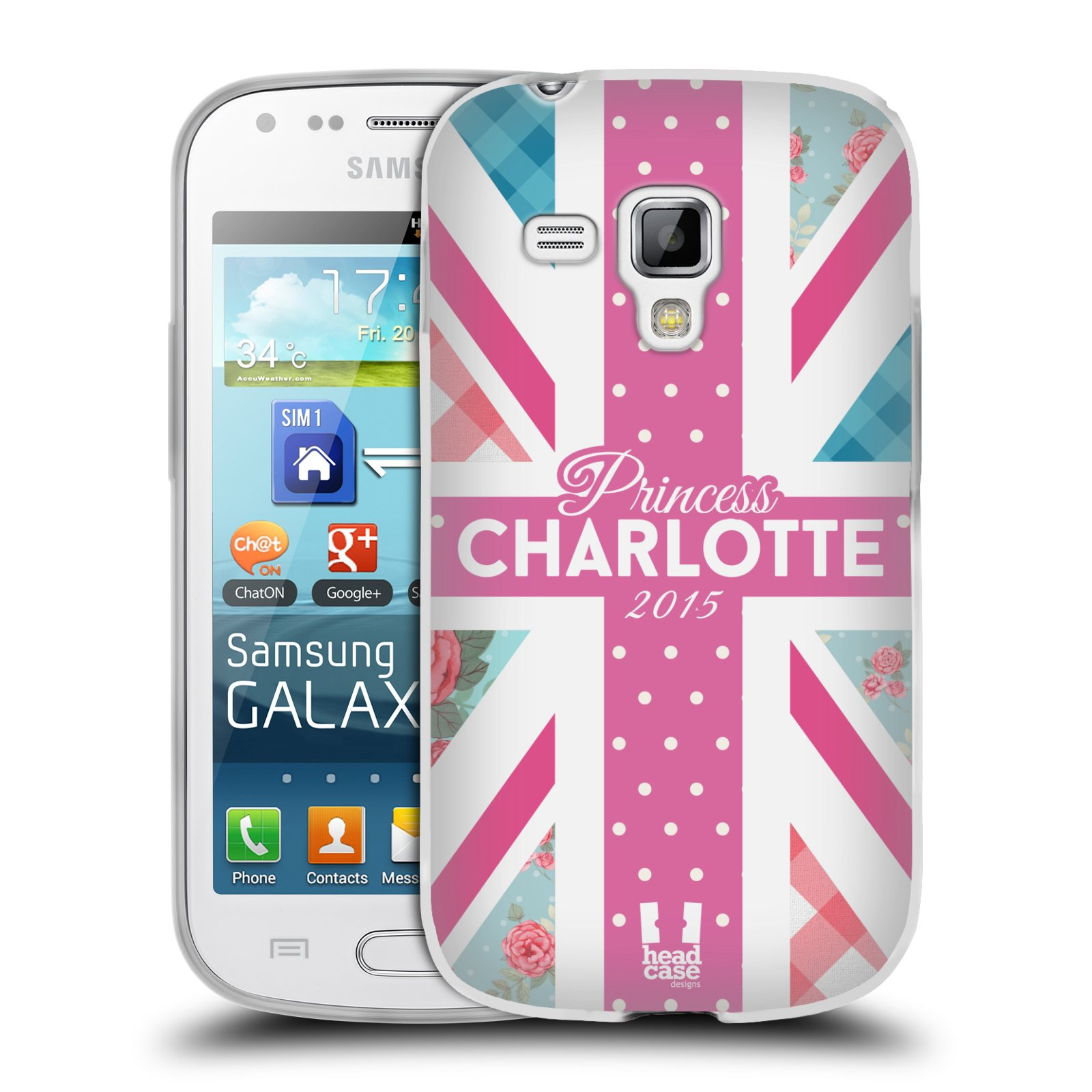 Silikonové pouzdro na mobil Samsung Galaxy Trend Plus HEAD CASE PRINCEZNIČKA CHARLOTTE (Silikonový kryt či obal na mobilní telefon Samsung Galaxy Trend Plus GT-S7580)
