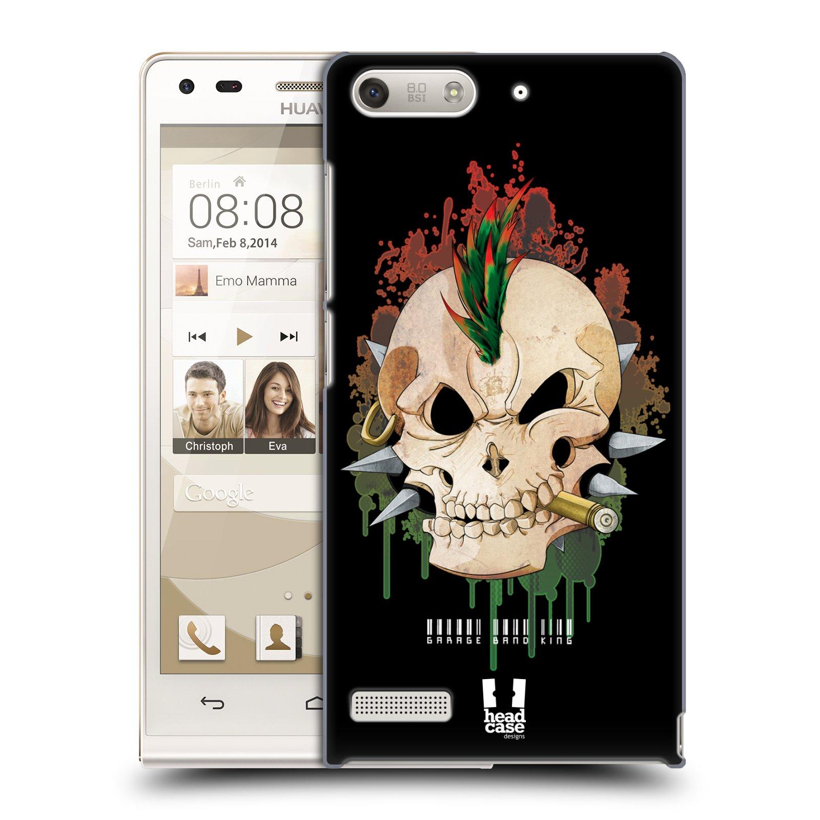 Plastové pouzdro na mobil Huawei Ascend G6 HEAD CASE SMOKING SKULL (Kryt či obal na mobilní telefon Huawei Ascend G6 bez LTE)