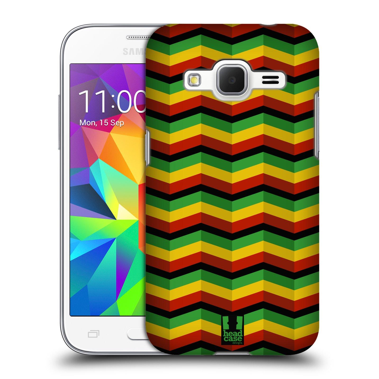 Plastové pouzdro na mobil Samsung Galaxy Core Prime VE HEAD CASE RASTA CHEVRON (Kryt či obal na mobilní telefon Samsung Galaxy Core Prime LTE VE SM-G361F)