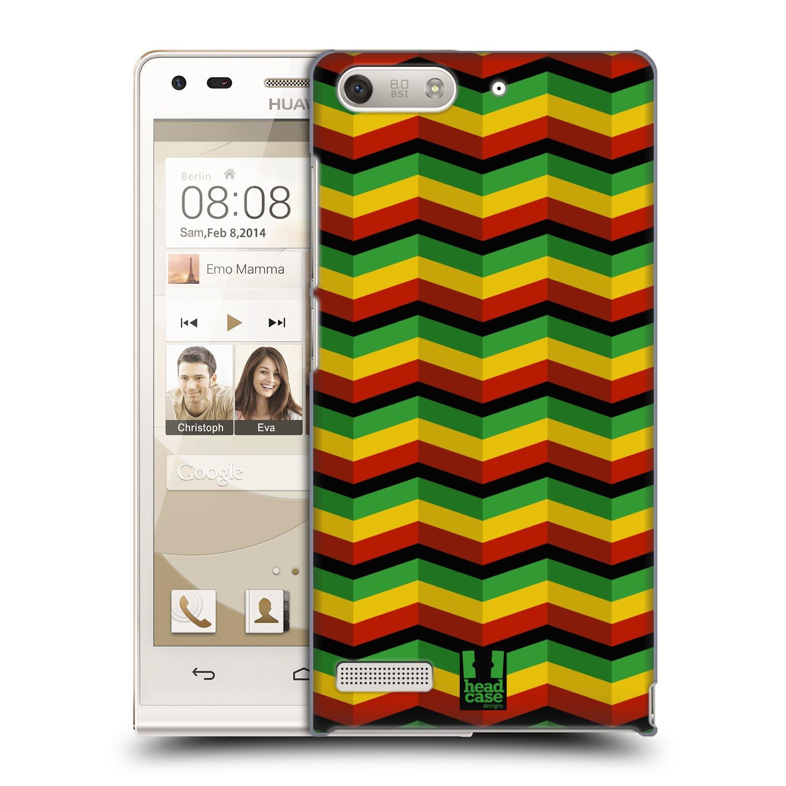 Plastové pouzdro na mobil Huawei Ascend G6 HEAD CASE RASTA CHEVRON (Kryt či obal na mobilní telefon Huawei Ascend G6 bez LTE)