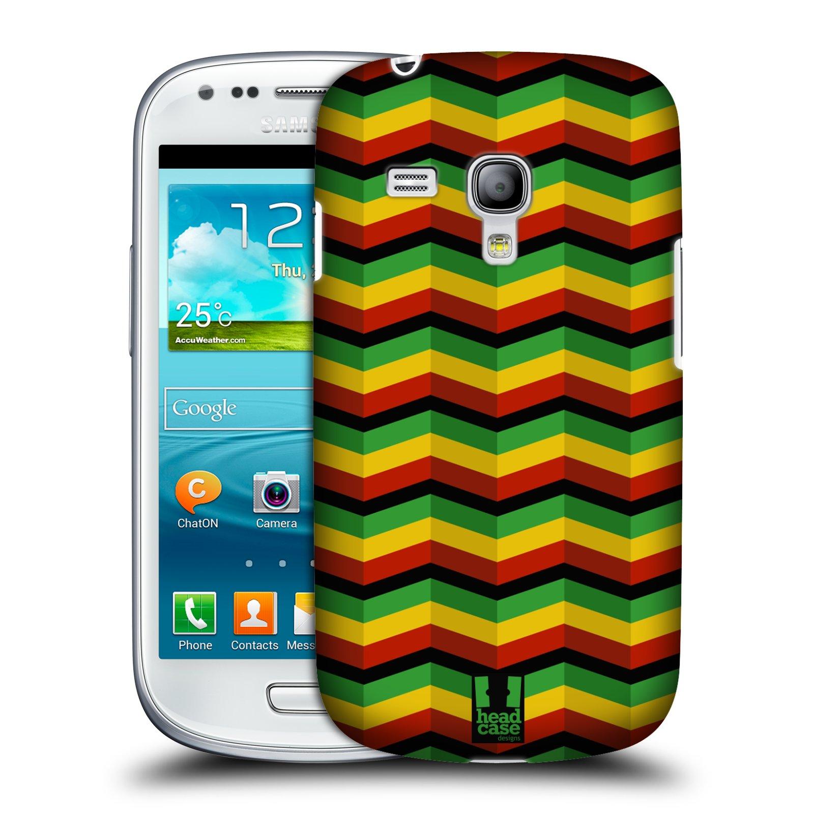 Plastové pouzdro na mobil Samsung Galaxy S3 Mini VE HEAD CASE RASTA CHEVRON (Kryt či obal na mobilní telefon Samsung Galaxy S3 Mini VE GT-i8200)