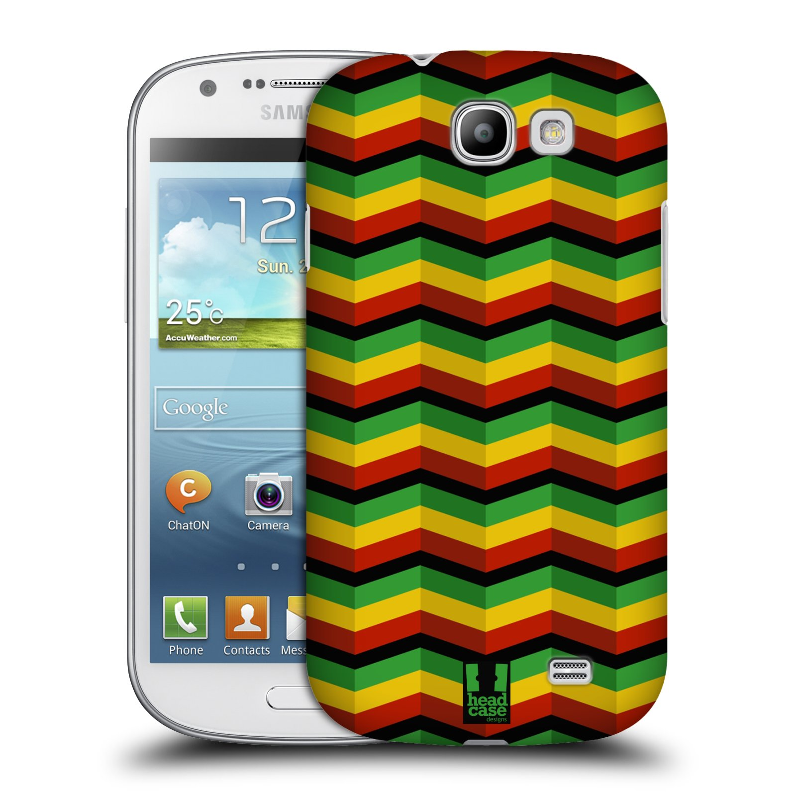 Plastové pouzdro na mobil Samsung Galaxy Express HEAD CASE RASTA CHEVRON (Kryt či obal na mobilní telefon Samsung Galaxy Express GT-i8730)