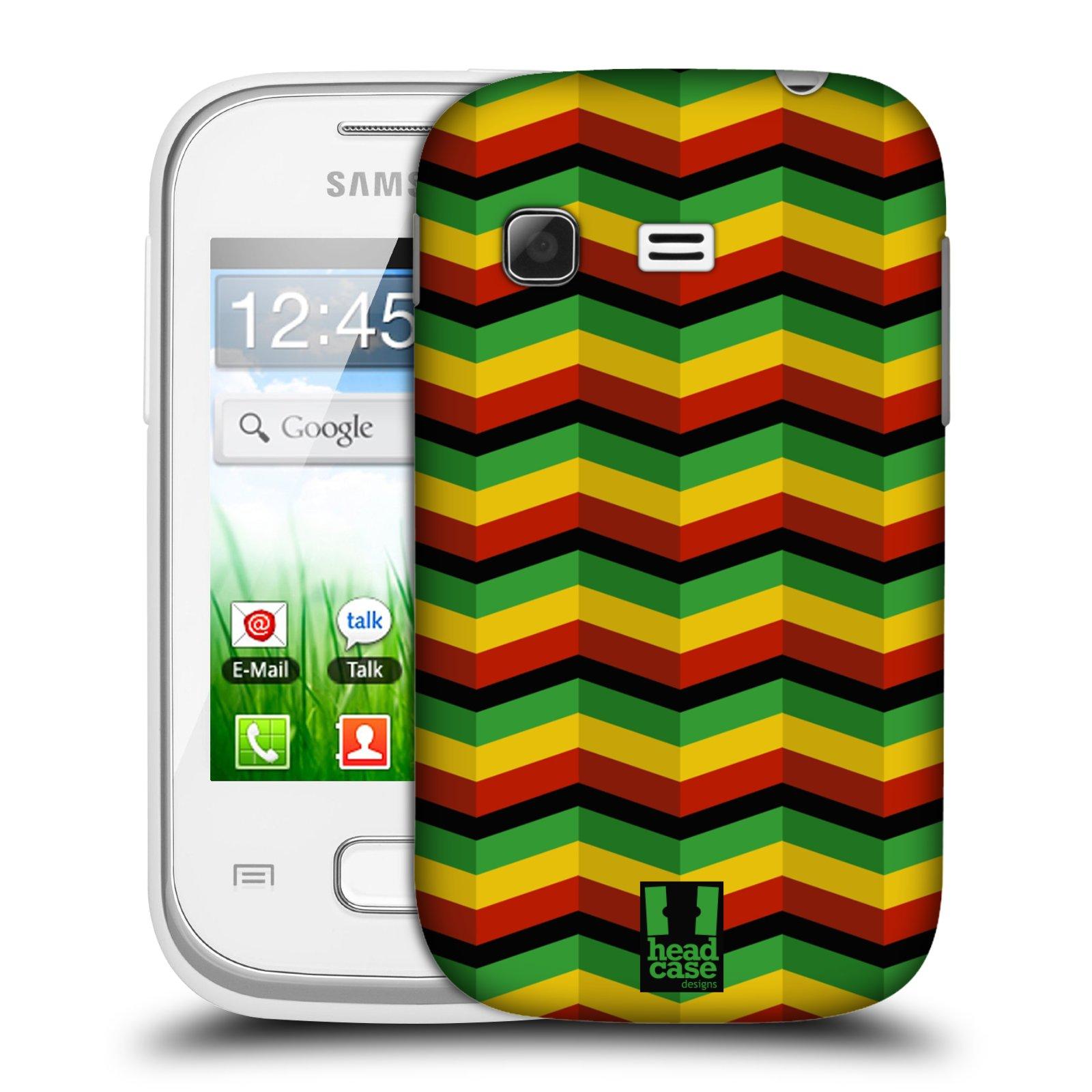 Plastové pouzdro na mobil Samsung Galaxy Pocket HEAD CASE RASTA CHEVRON (Kryt či obal na mobilní telefon Samsung Galaxy Pocket GT-S5300)