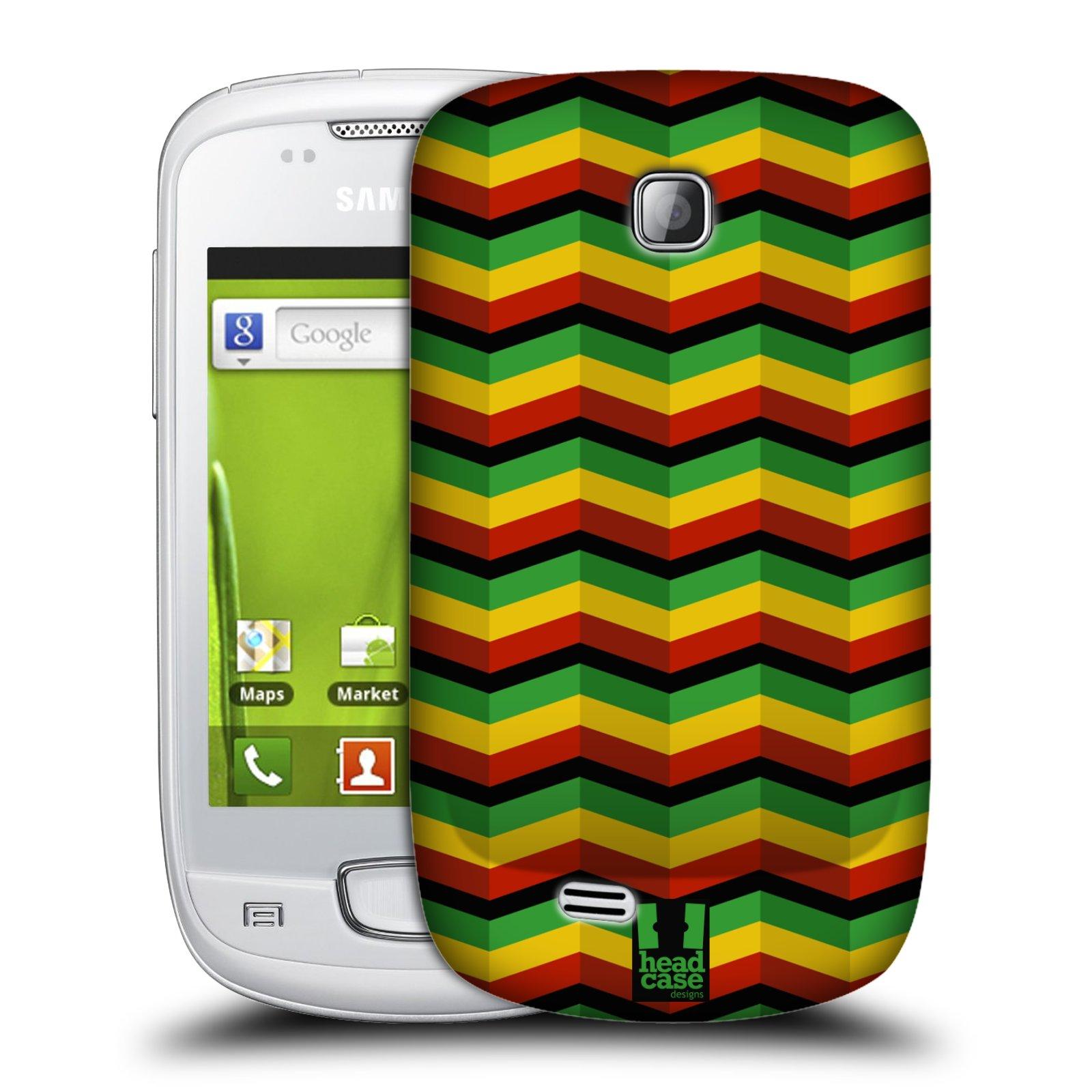 Plastové pouzdro na mobil Samsung Galaxy Mini HEAD CASE RASTA CHEVRON (Kryt či obal na mobilní telefon Samsung Galaxy Mini GT-S5570 / GT-S5570i)