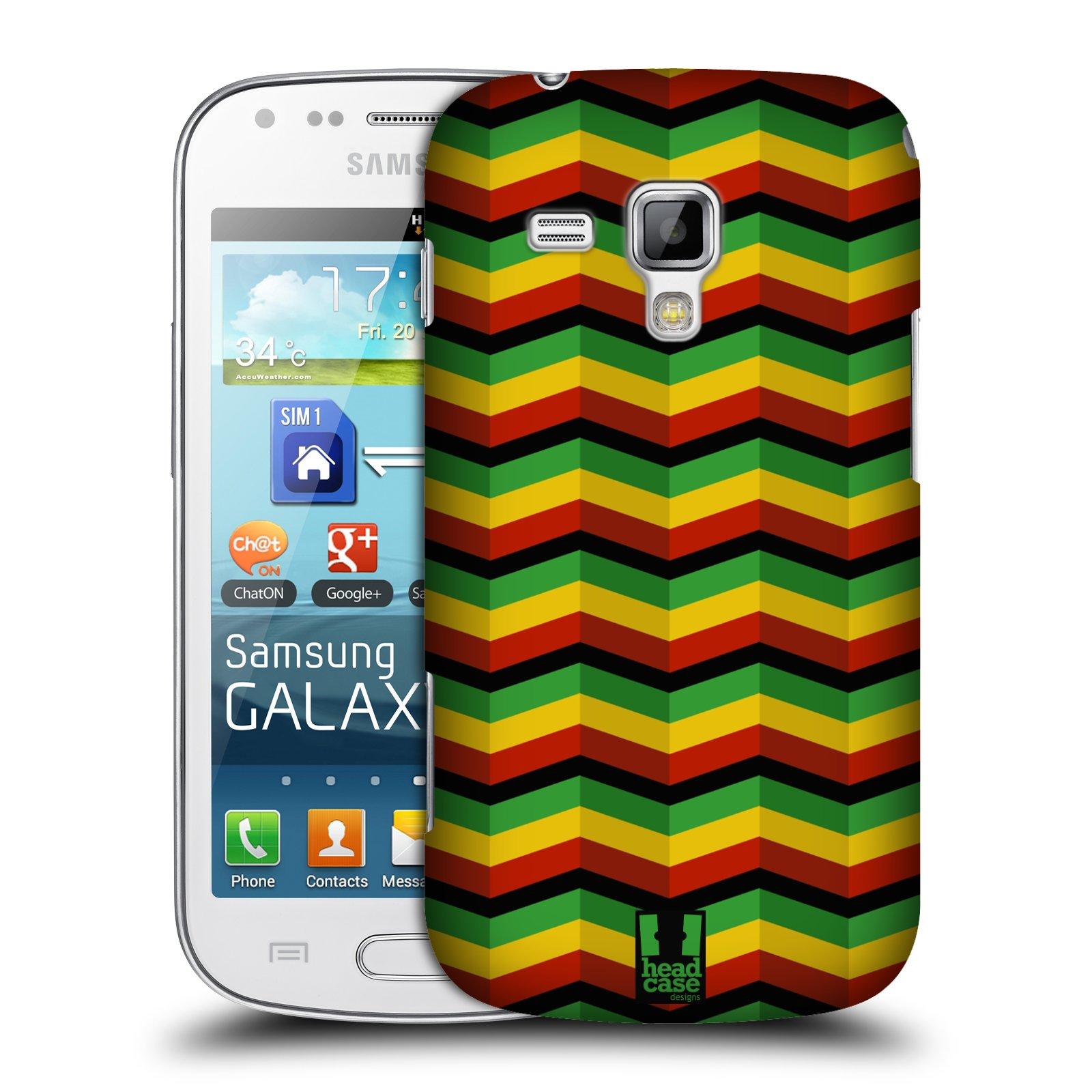 Plastové pouzdro na mobil Samsung Galaxy S Duos HEAD CASE RASTA CHEVRON (Kryt či obal na mobilní telefon Samsung Galaxy S Duos GT-S7562)