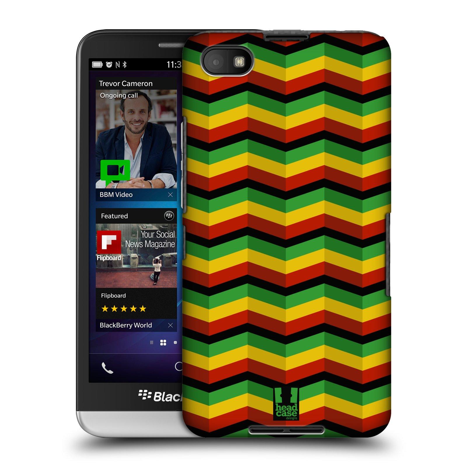 Plastové pouzdro na mobil Blackberry Z30 HEAD CASE RASTA CHEVRON (Kryt či obal na mobilní telefon Blackberry Z30)