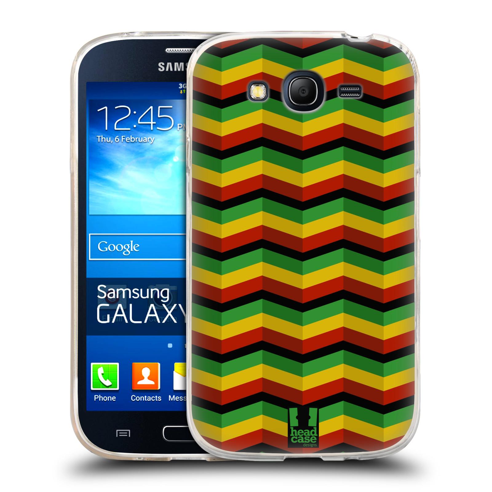Silikonové pouzdro na mobil Samsung Galaxy Grand Neo HEAD CASE RASTA CHEVRON (Silikonový kryt či obal na mobilní telefon Samsung Galaxy Grand Neo GT-I9060)