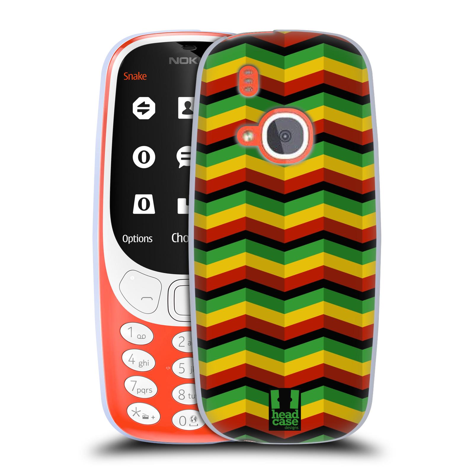 Silikonové pouzdro na mobil Nokia 3310 - Head Case - RASTA CHEVRON (Silikonový kryt či obal na mobilní telefon Nokia 3310 (2017) s motivem RASTA CHEVRON)