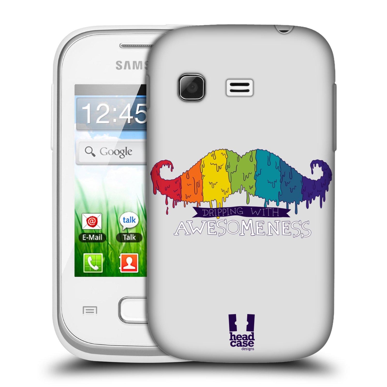 Plastové pouzdro na mobil Samsung Galaxy Pocket HEAD CASE KNÍR AWESOMENESS DUHOVÝ (Plastový kryt či obal na mobilní telefon Samsung Galaxy Pocket GT-S5300)