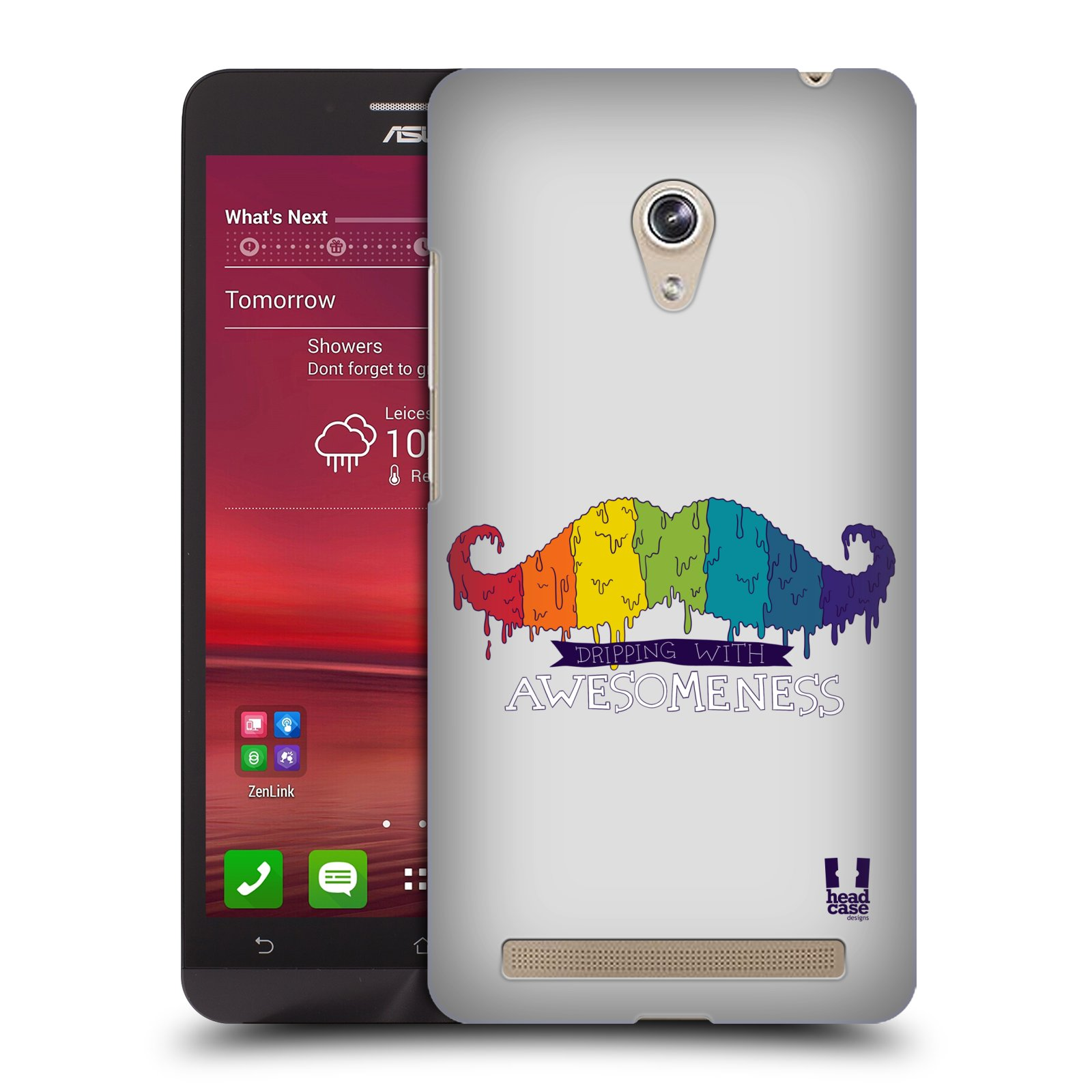 Plastové pouzdro na mobil Asus Zenfone 6 HEAD CASE KNÍR AWESOMENESS DUHOVÝ (Plastový kryt či obal na mobilní telefon Asus Zenfone 6 A600CG / A601CG)