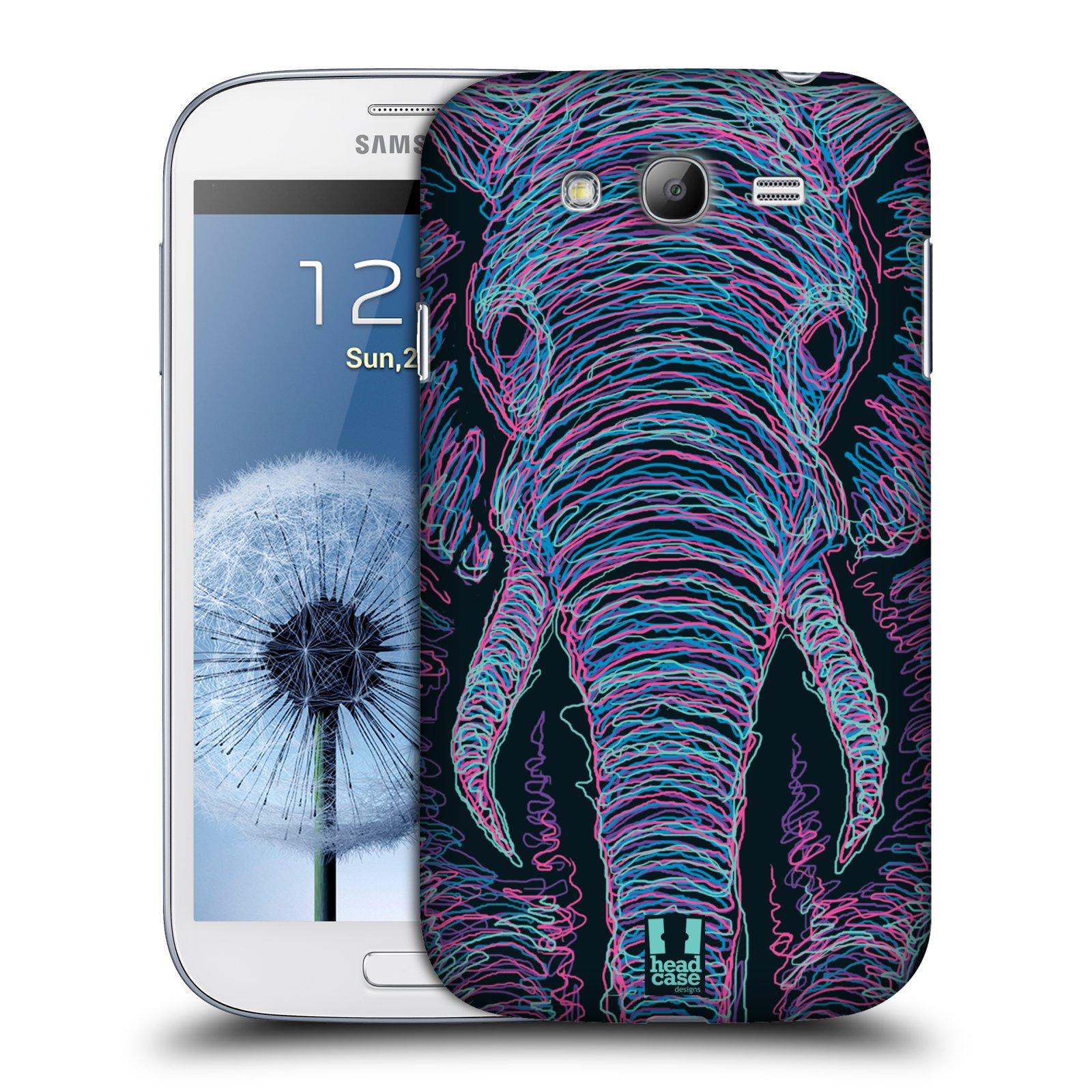 Plastové pouzdro na mobil Samsung Galaxy Grand Neo Plus HEAD CASE SCRIBBLE SLON (Kryt či obal na mobilní telefon Samsung Galaxy Grand Neo Plus GT-i9060i)