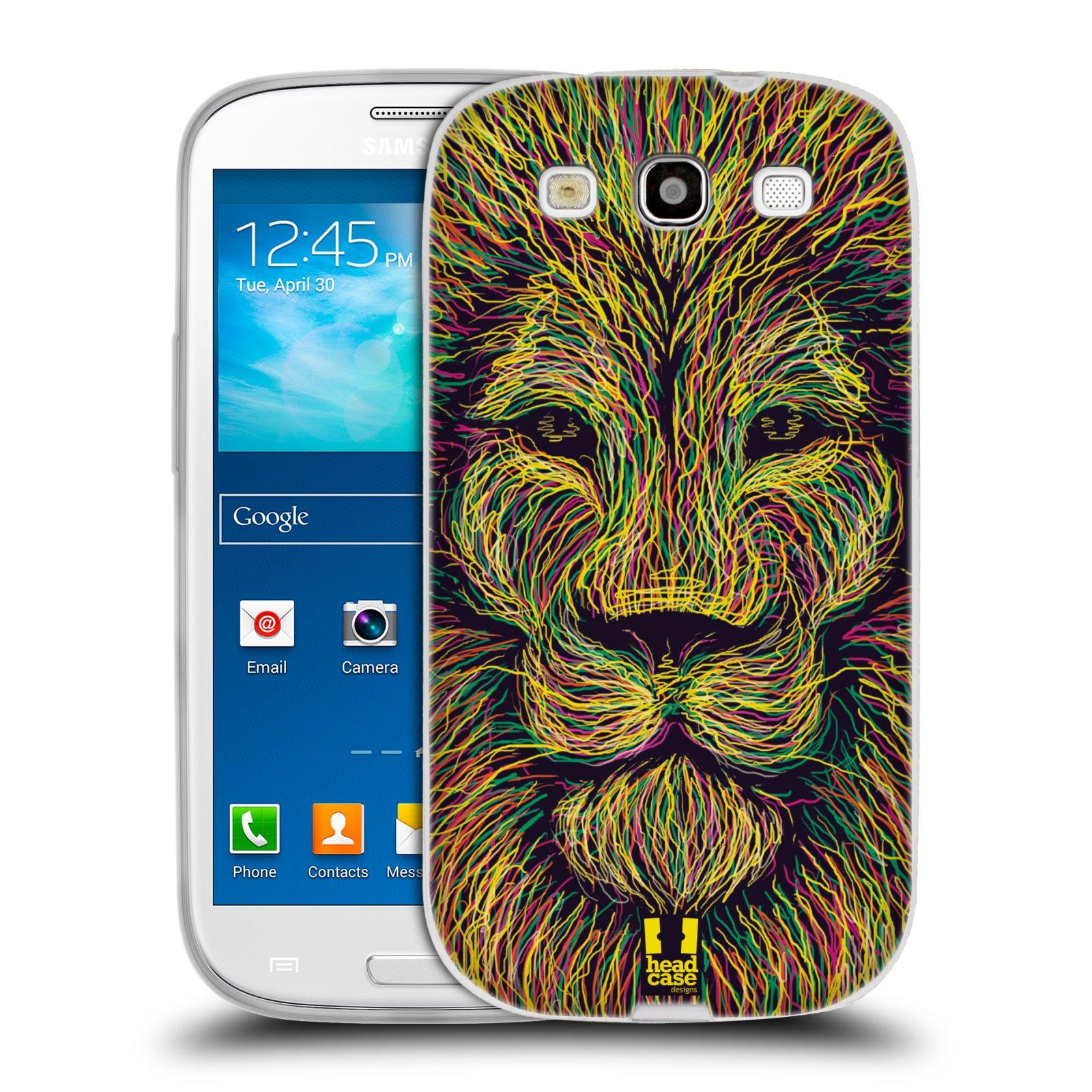 Silikonové pouzdro na mobil Samsung Galaxy S3 Neo HEAD CASE SCRIBBLE LEV (Silikonový kryt či obal na mobilní telefon Samsung Galaxy S3 Neo GT-i9301i)