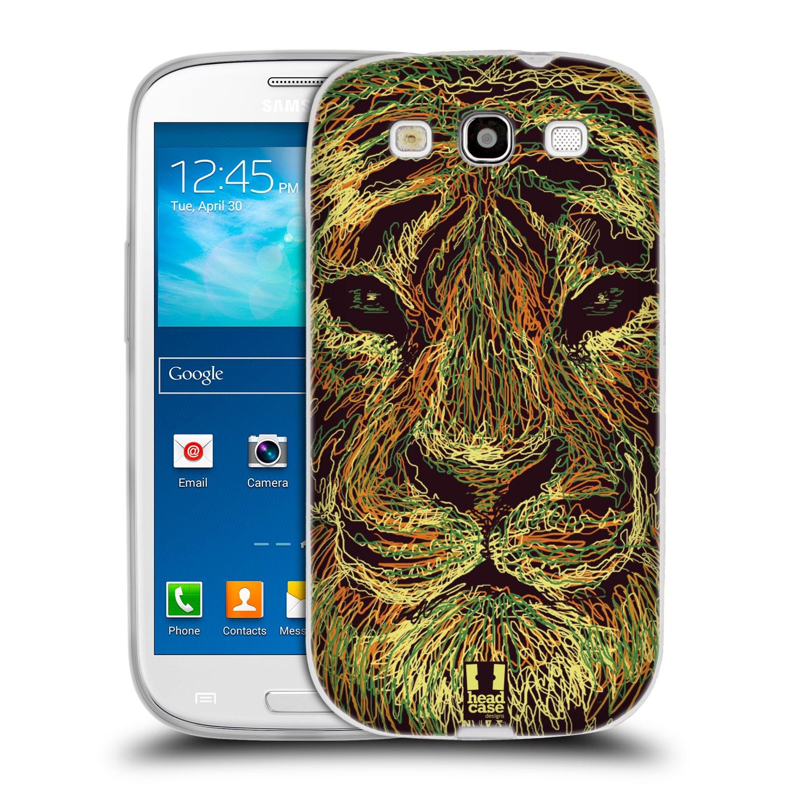 Silikonové pouzdro na mobil Samsung Galaxy S3 Neo HEAD CASE SCRIBBLE TYGR (Silikonový kryt či obal na mobilní telefon Samsung Galaxy S3 Neo GT-i9301i)
