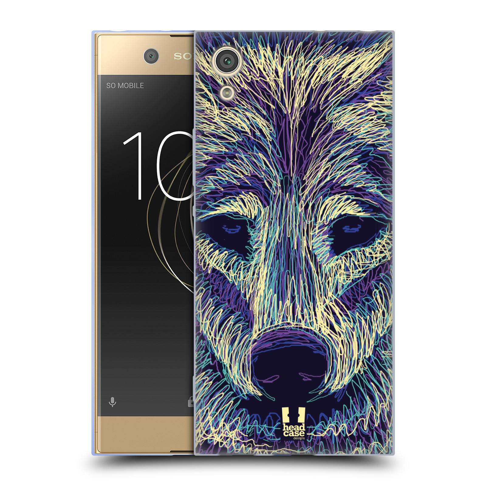 Silikonové pouzdro na mobil Sony Xperia XA1 - Head Case - SCRIBBLE VLK (Silikonový kryt či obal na mobilní telefon Sony Xperia XA1 G3121 s motivem SCRIBBLE VLK)