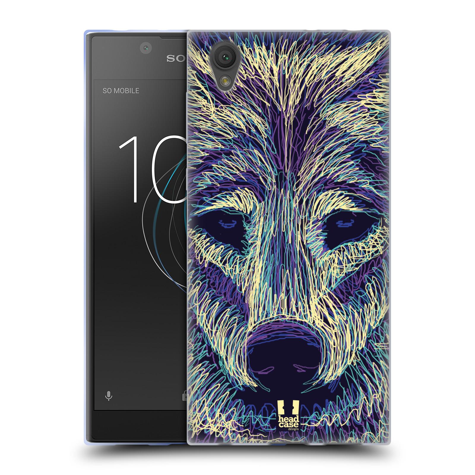 Silikonové pouzdro na mobil Sony Xperia L1 - Head Case - SCRIBBLE VLK (Silikonový kryt či obal na mobilní telefon Sony Xperia L1 G3311 s motivem SCRIBBLE VLK)
